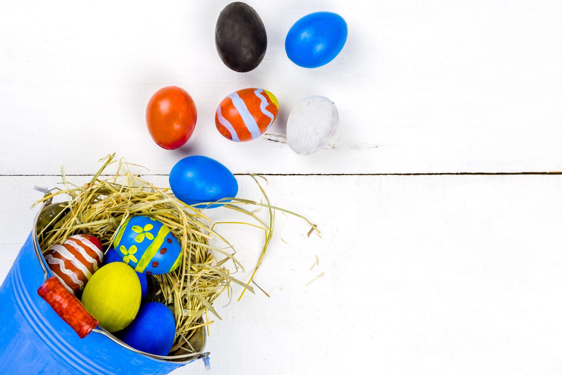 colors eggs easter wallpaper