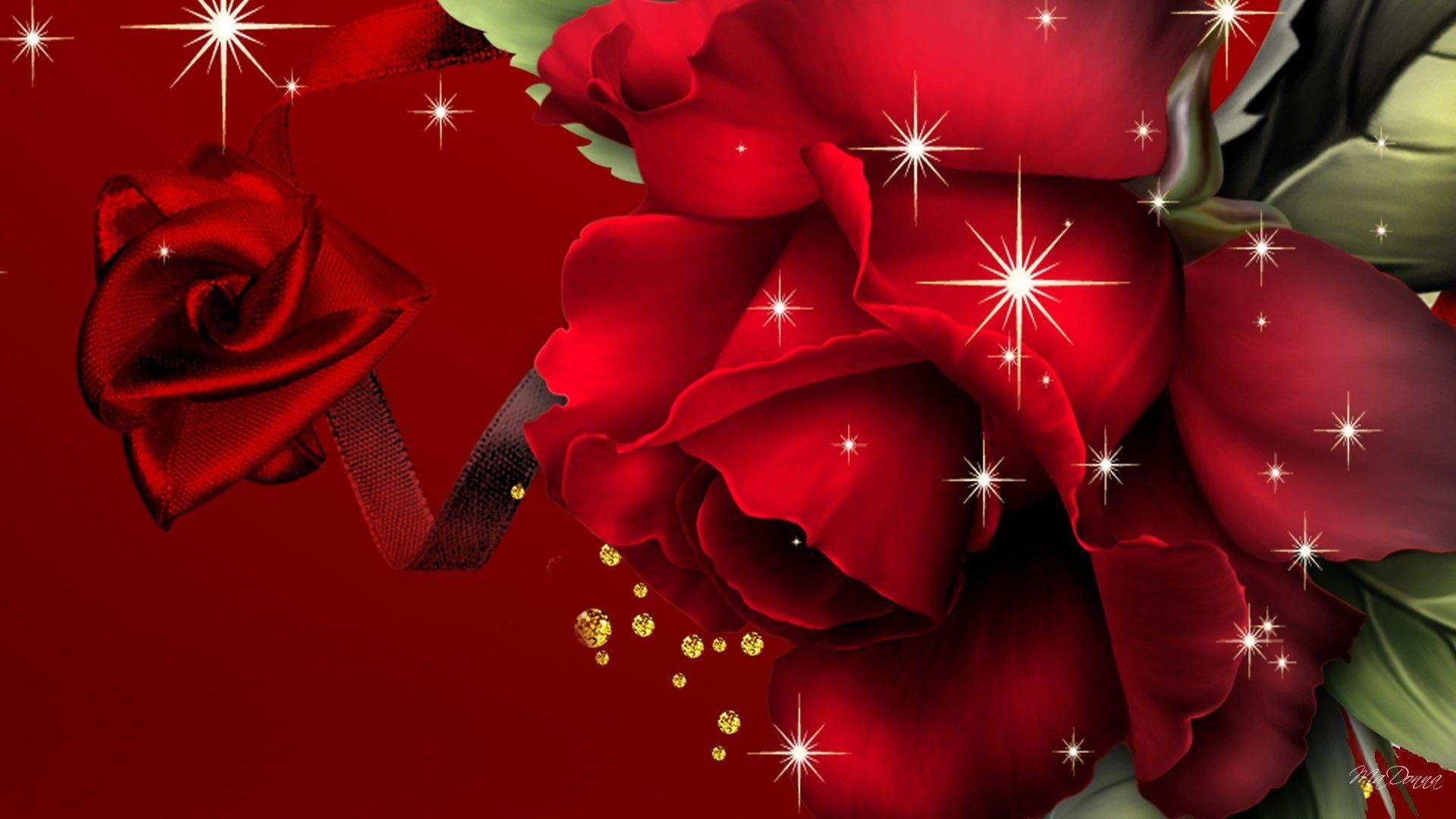 red art roses