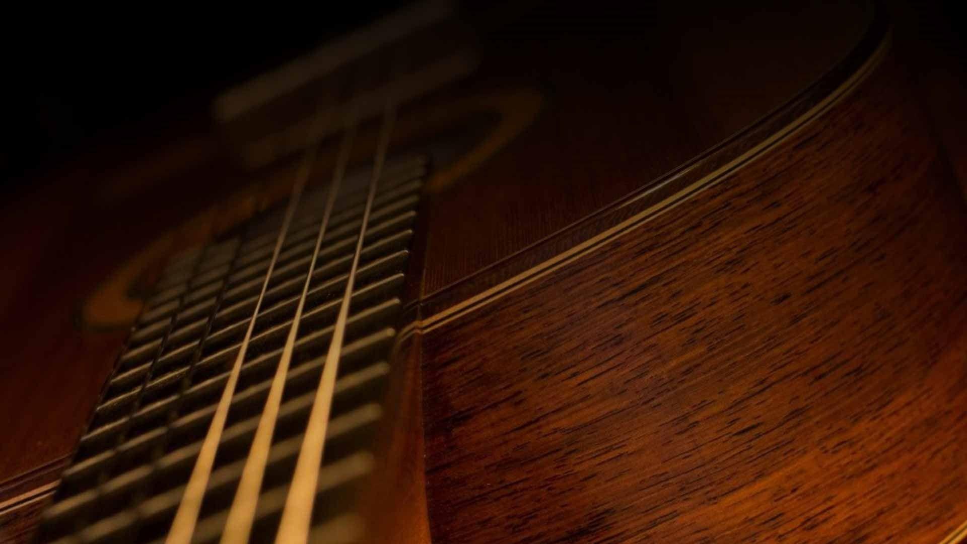 Acoustic Guitar strings, HD Wallpaper