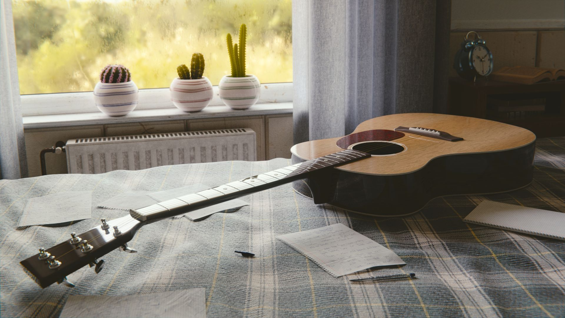 Acoustic Guitar wood, Free Download Wallpaper