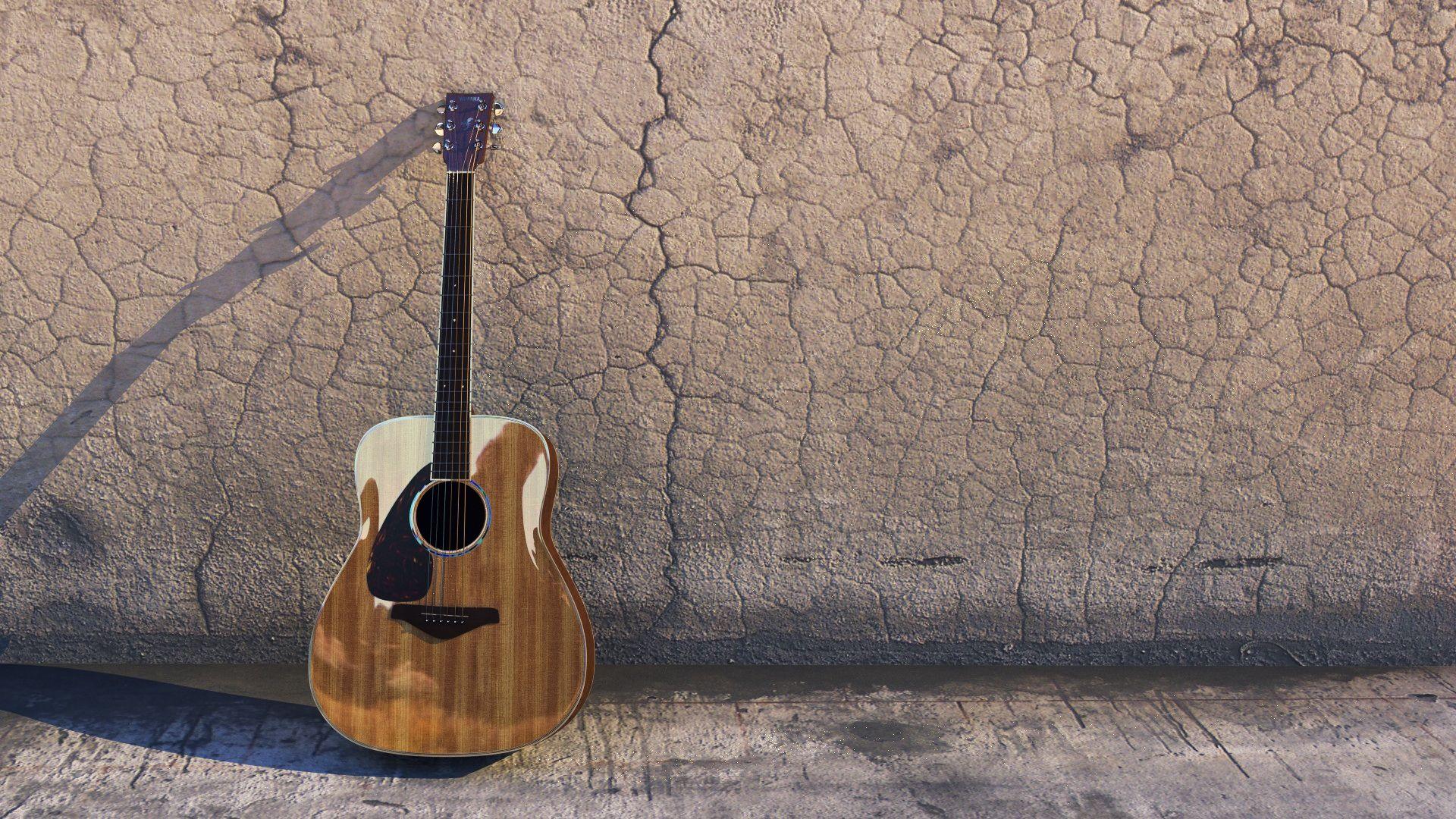 Acoustic Guitar, Desktop Wallpaper