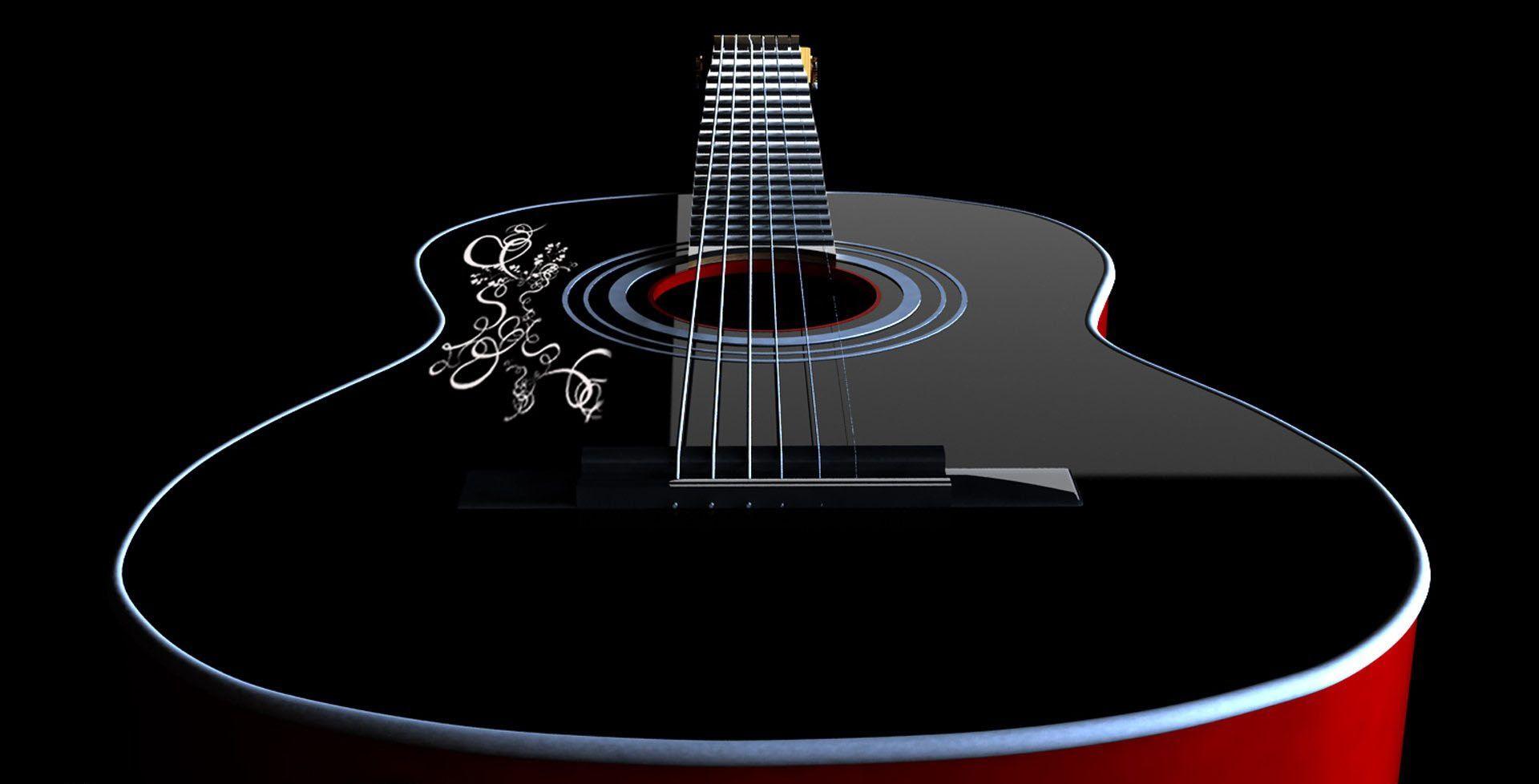 Acoustic Guitar, Computer Wallpaper