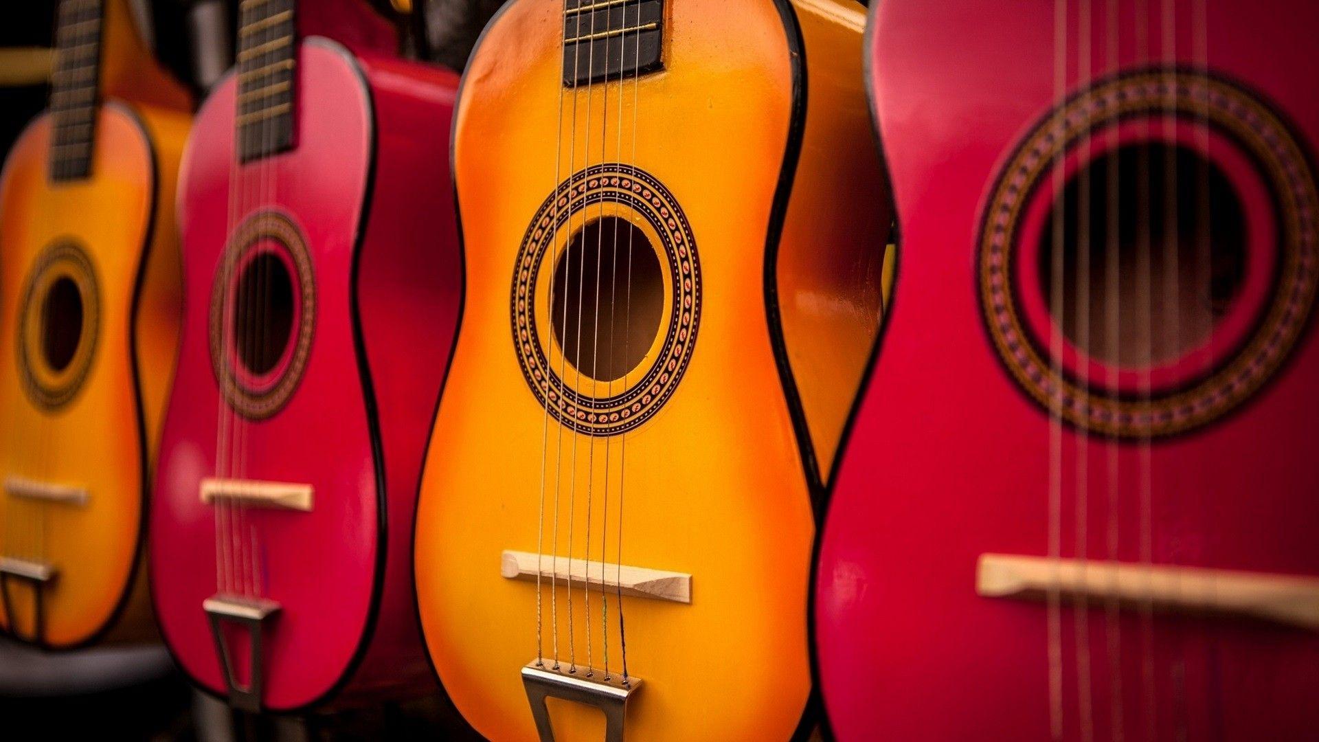 Acoustic Guitars wood, Cool Wallpaper