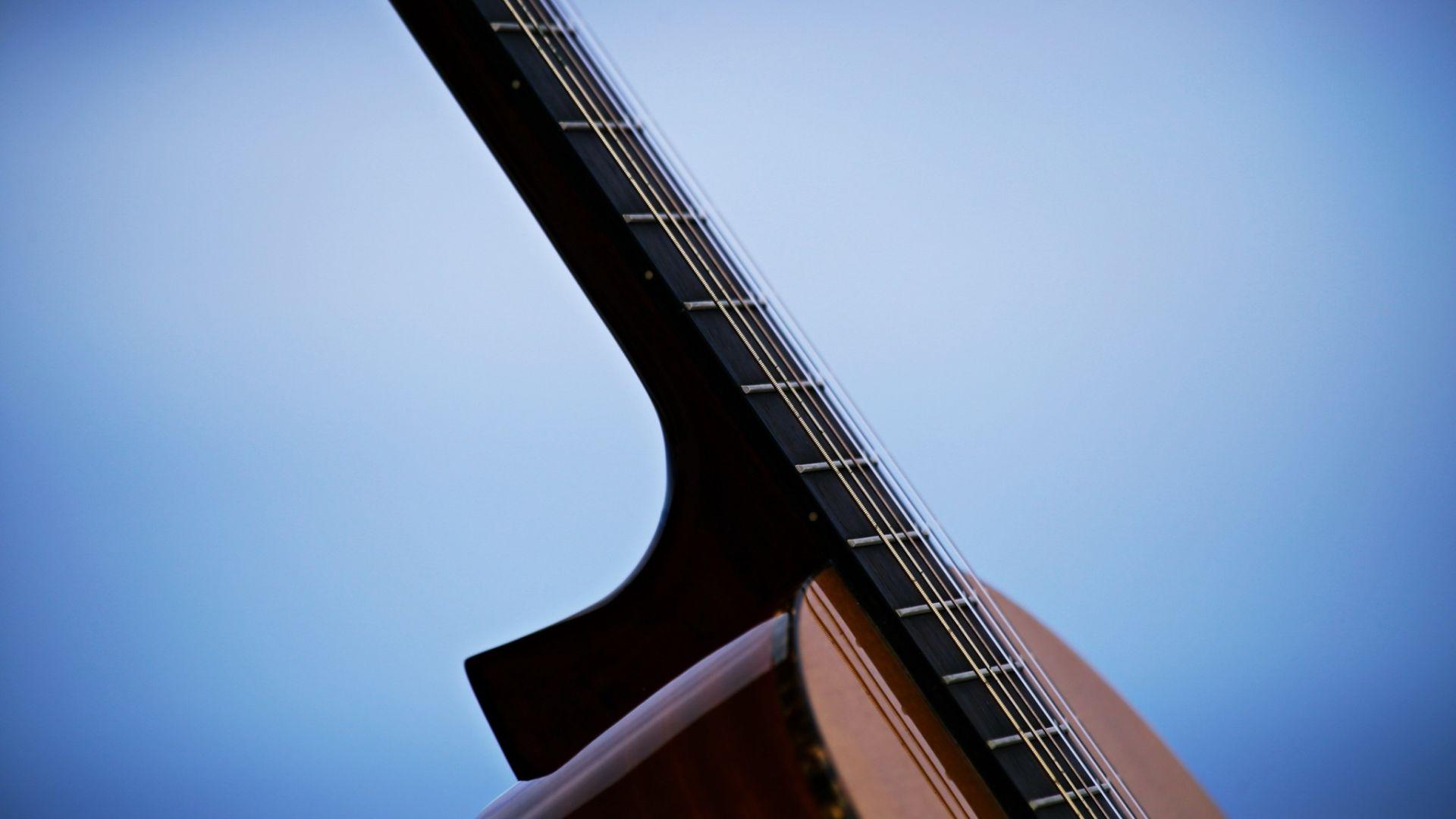 Acoustic Guitar strings, Wallpaper Image