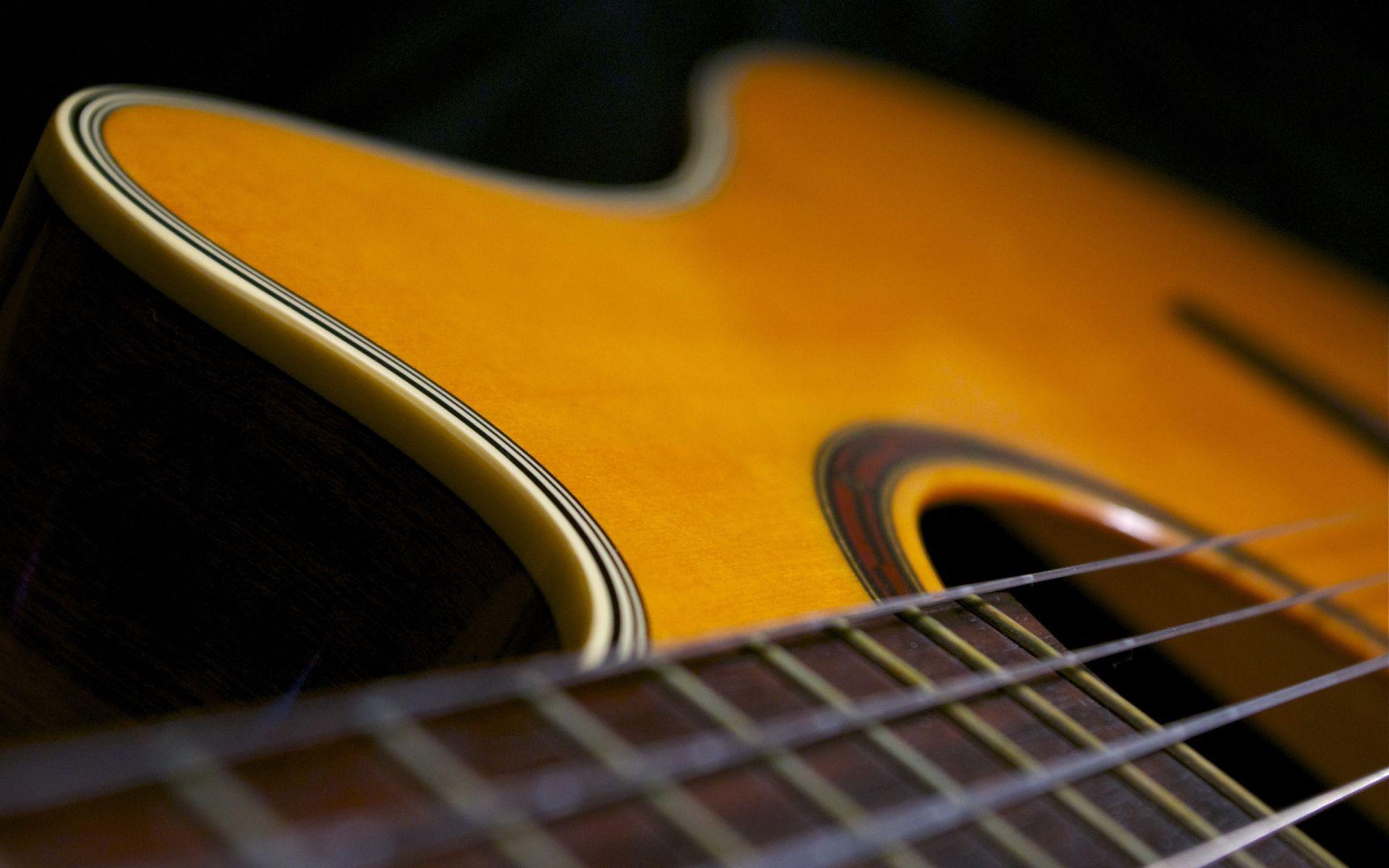 Acoustic Guitar wood, Cool Wallpaper