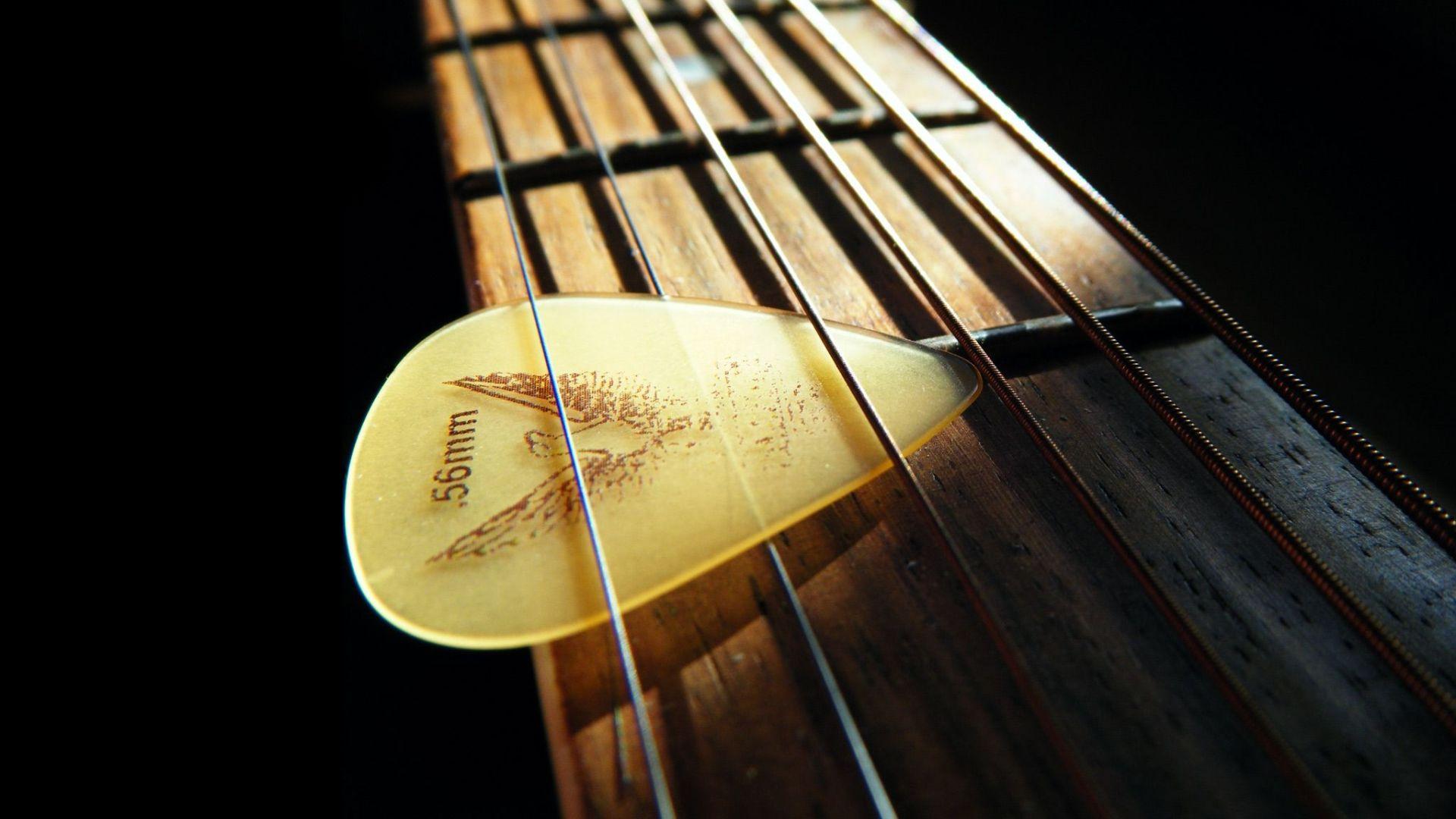 Acoustic Guitar strings, PC Wallpaper