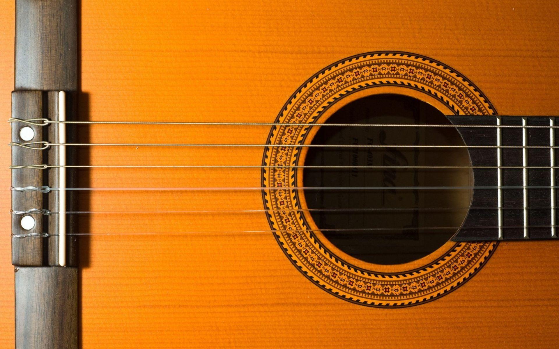 Acoustic Guitar strings, 1080p Wallpaper
