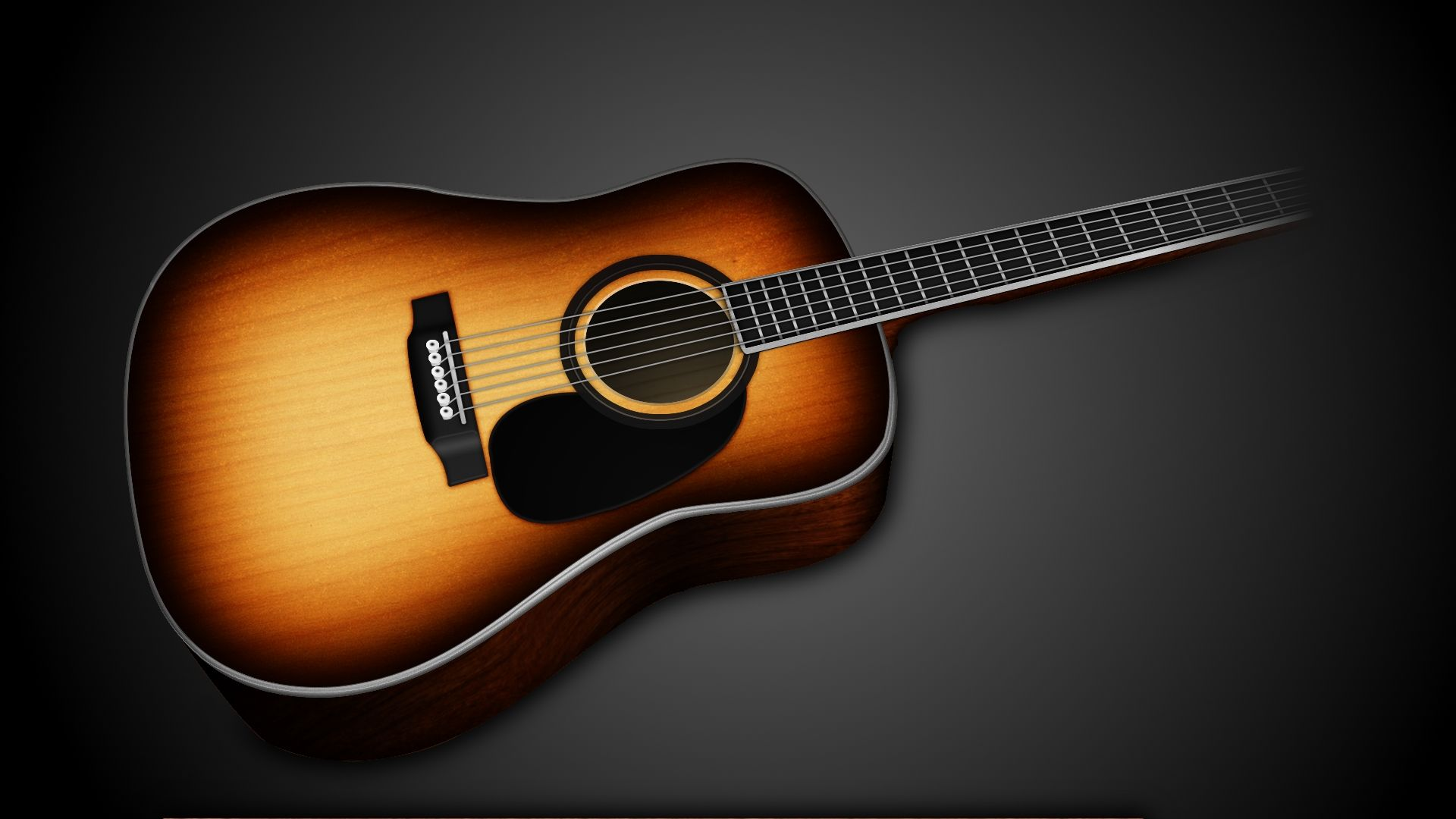 Acoustic Guitar, Background Wallpaper HD