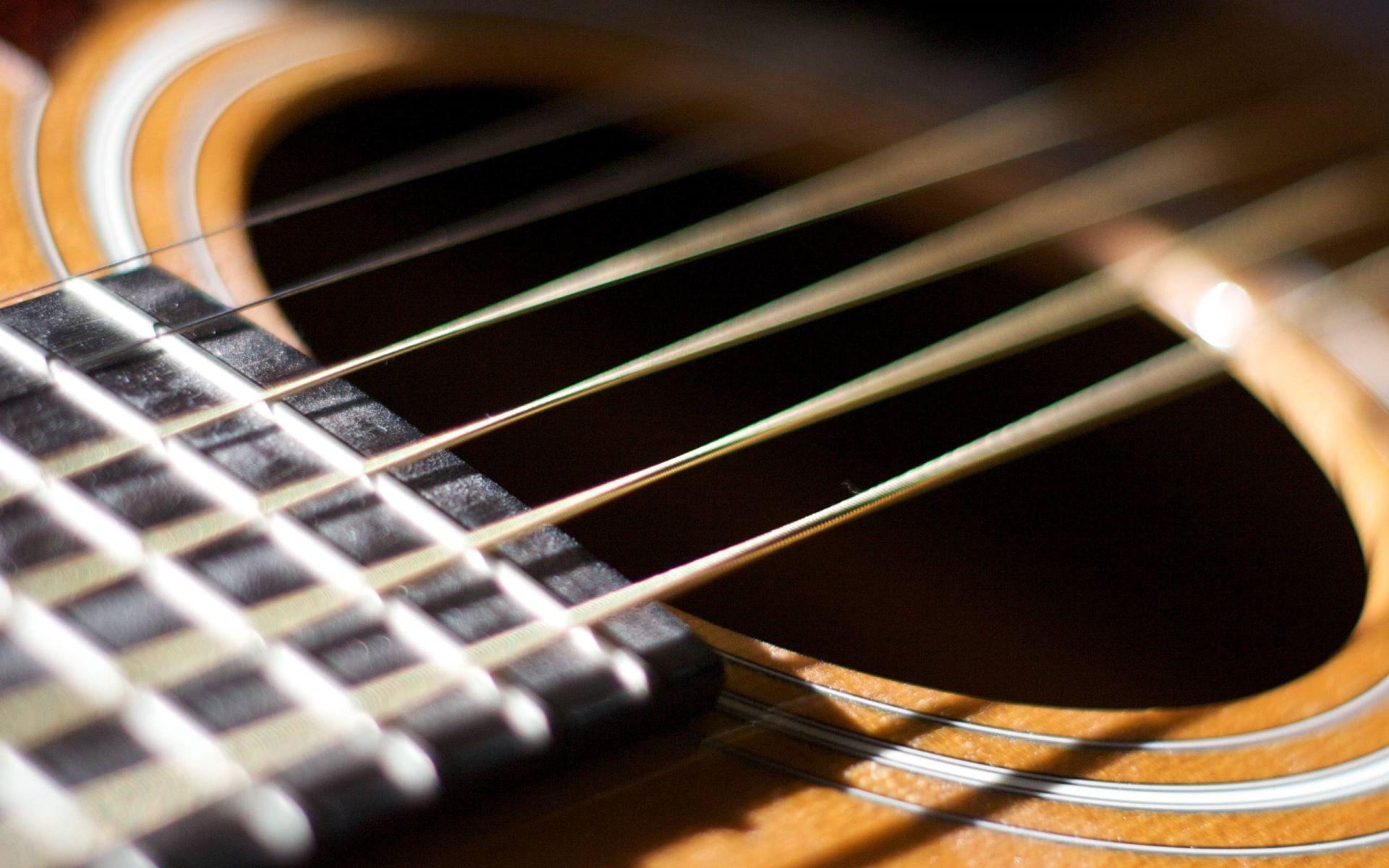 Acoustic Guitar strings, Computer Wallpaper