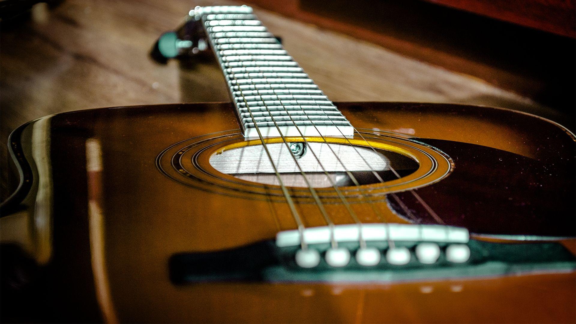 Acoustic Guitar, 1080p Wallpaper