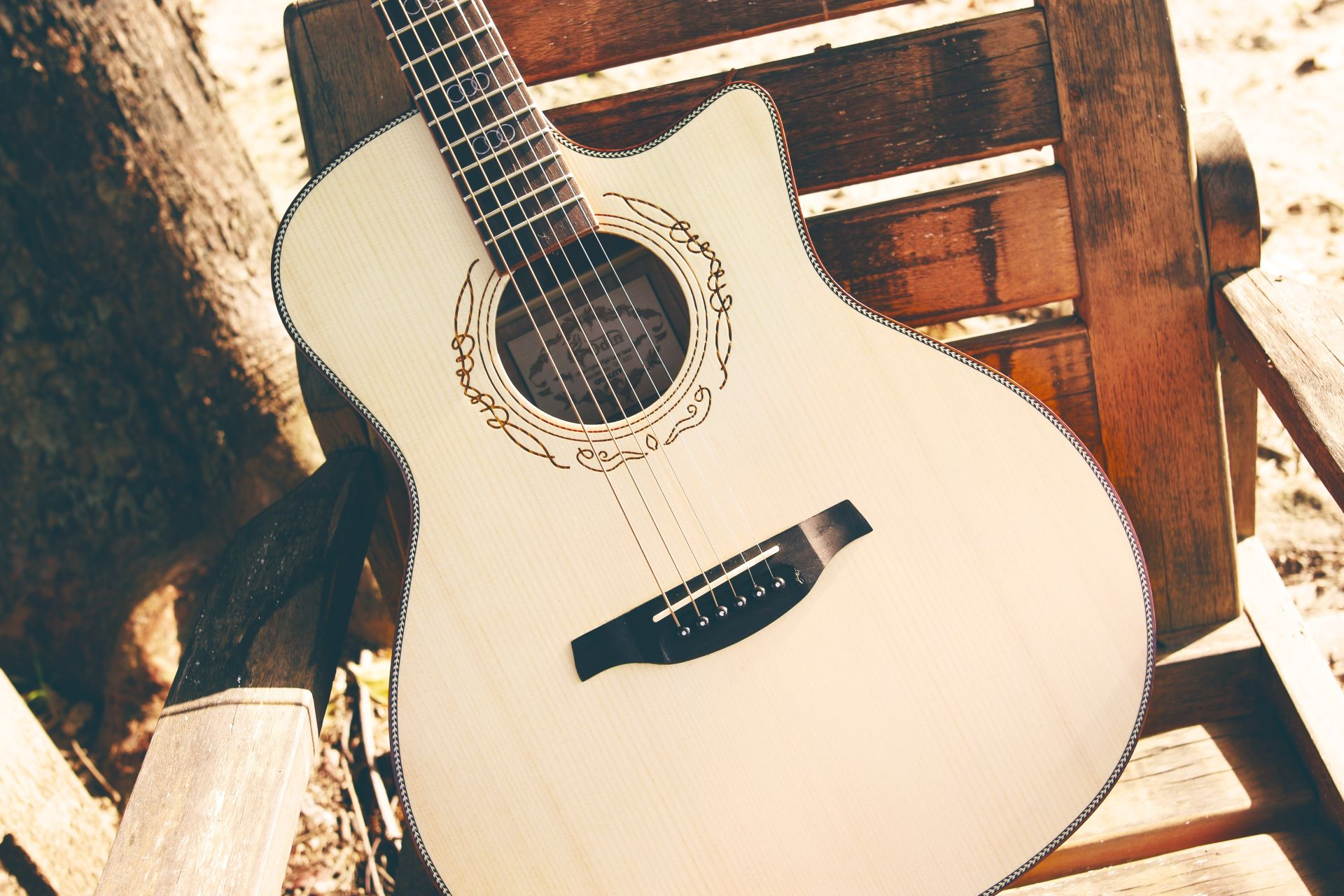 Acoustic Guitar, HD Desktop Wallpaper