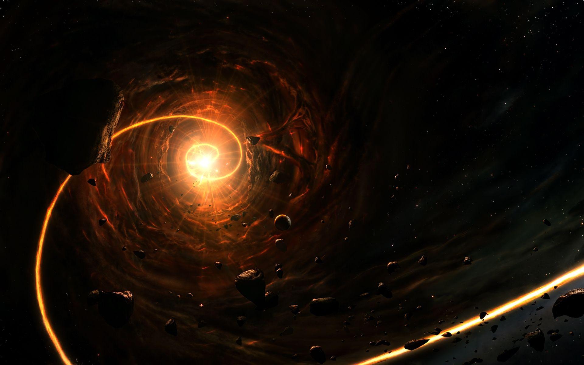 Black Hole Full HD Wallpaper