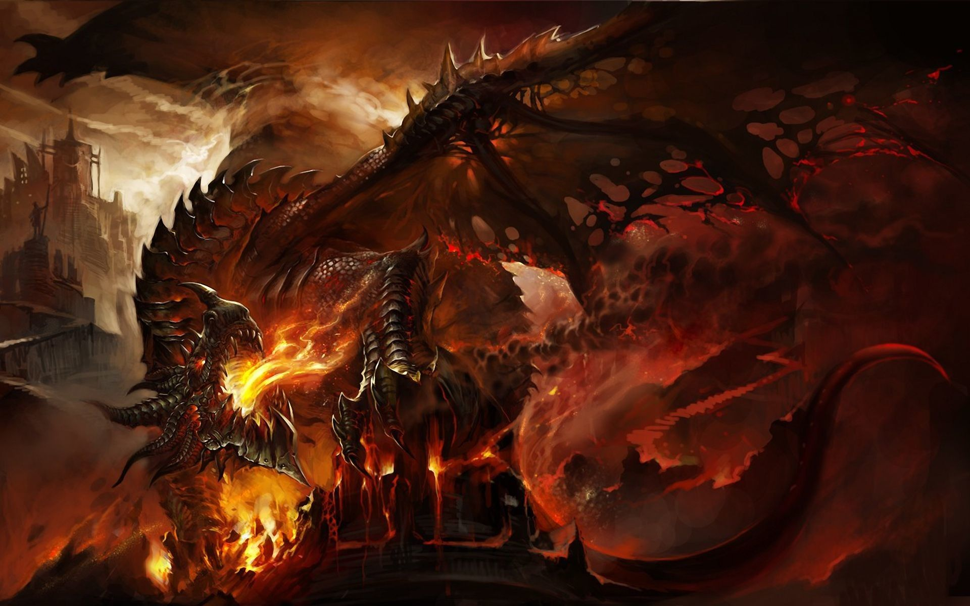 awesome dragon background