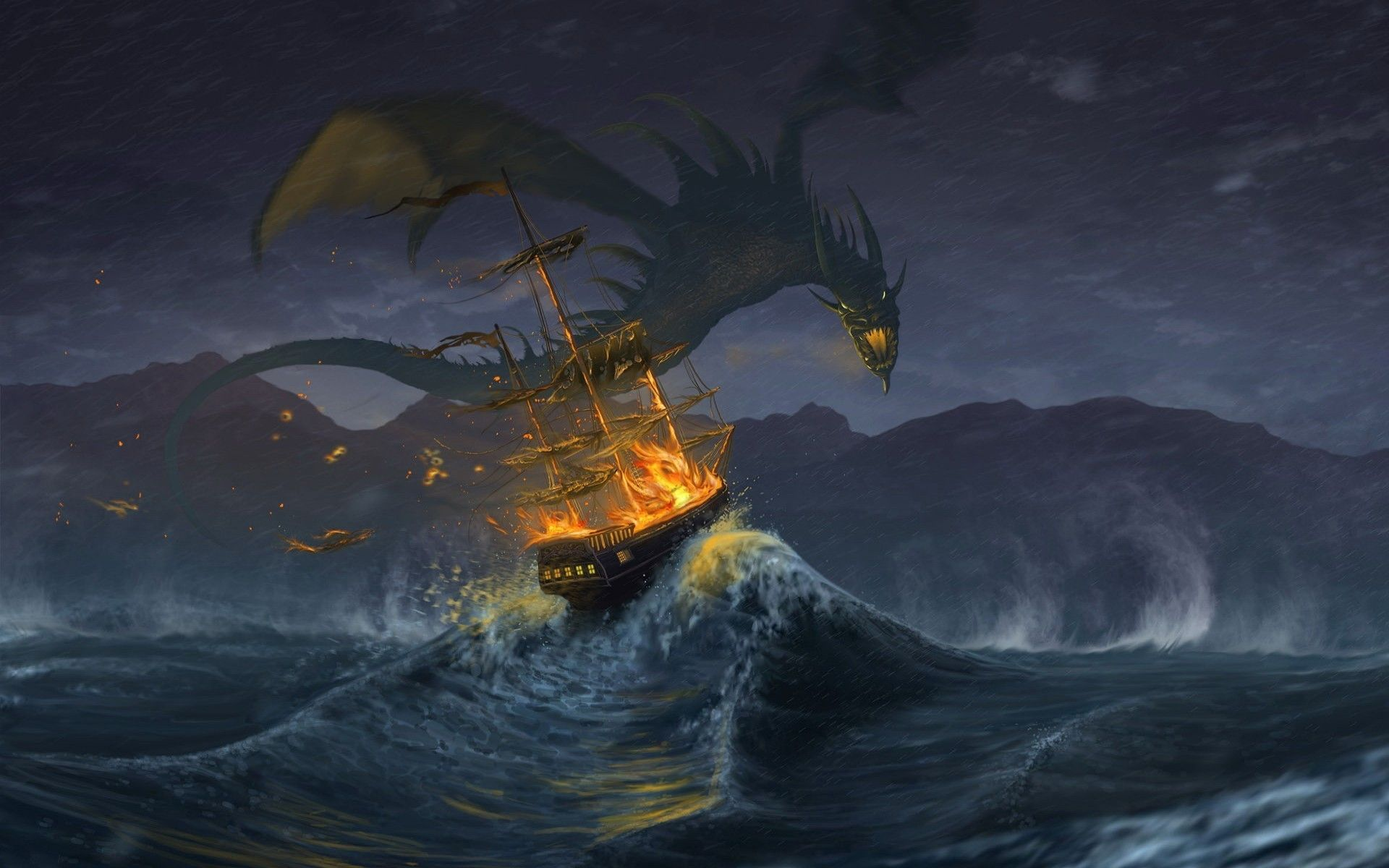 cool dragon background