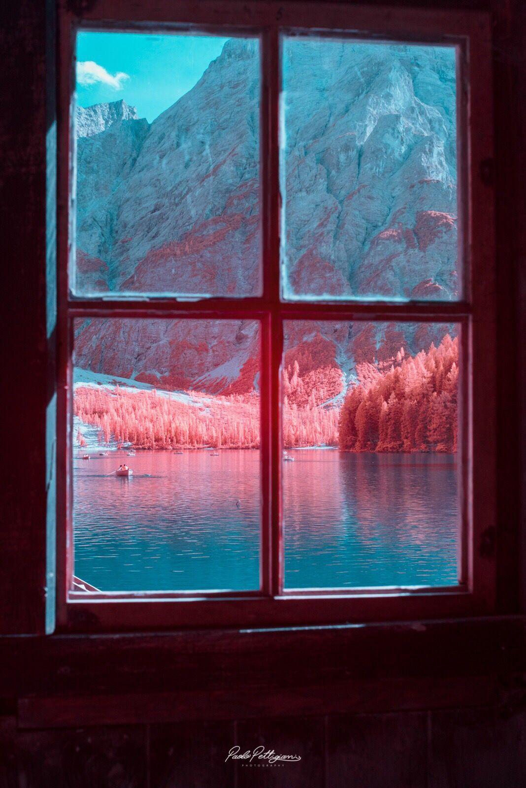 dolomite mountains italy window