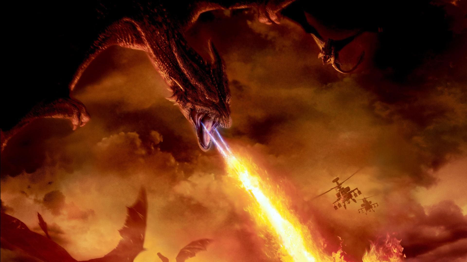 3d art red dragon with fire