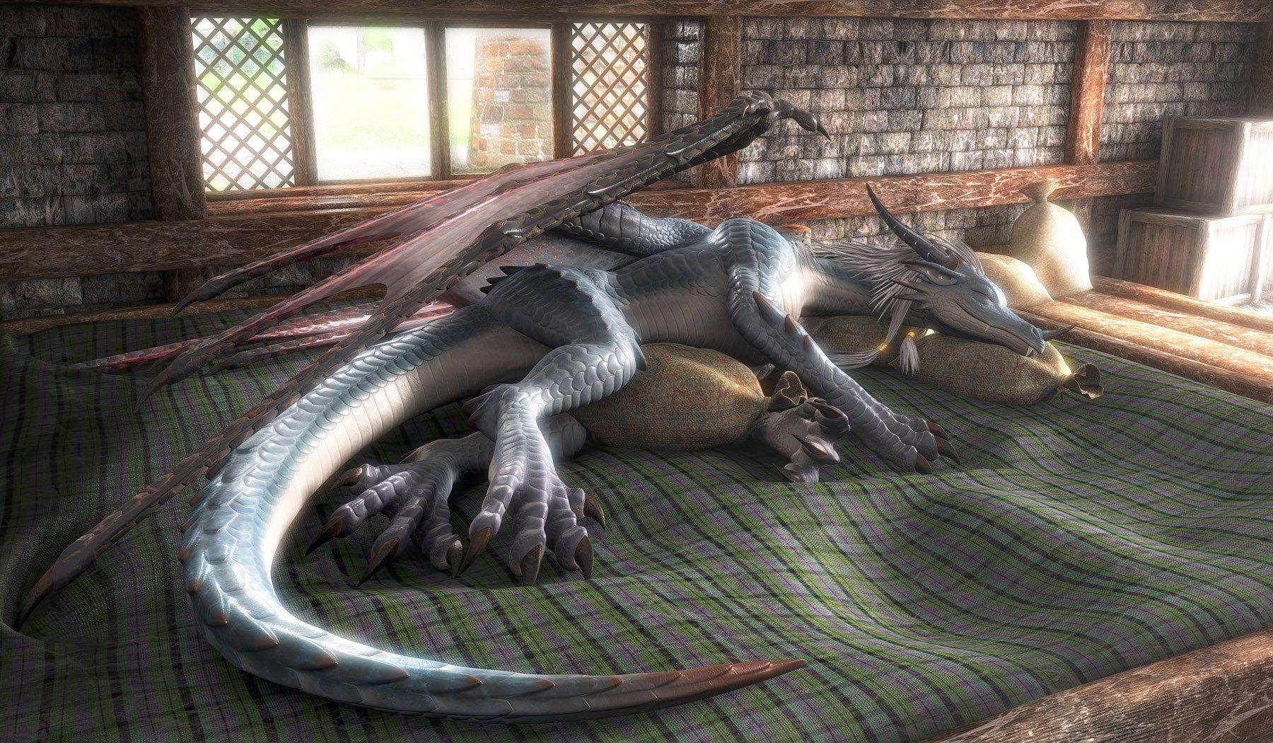 3d model dragon wallpaper
