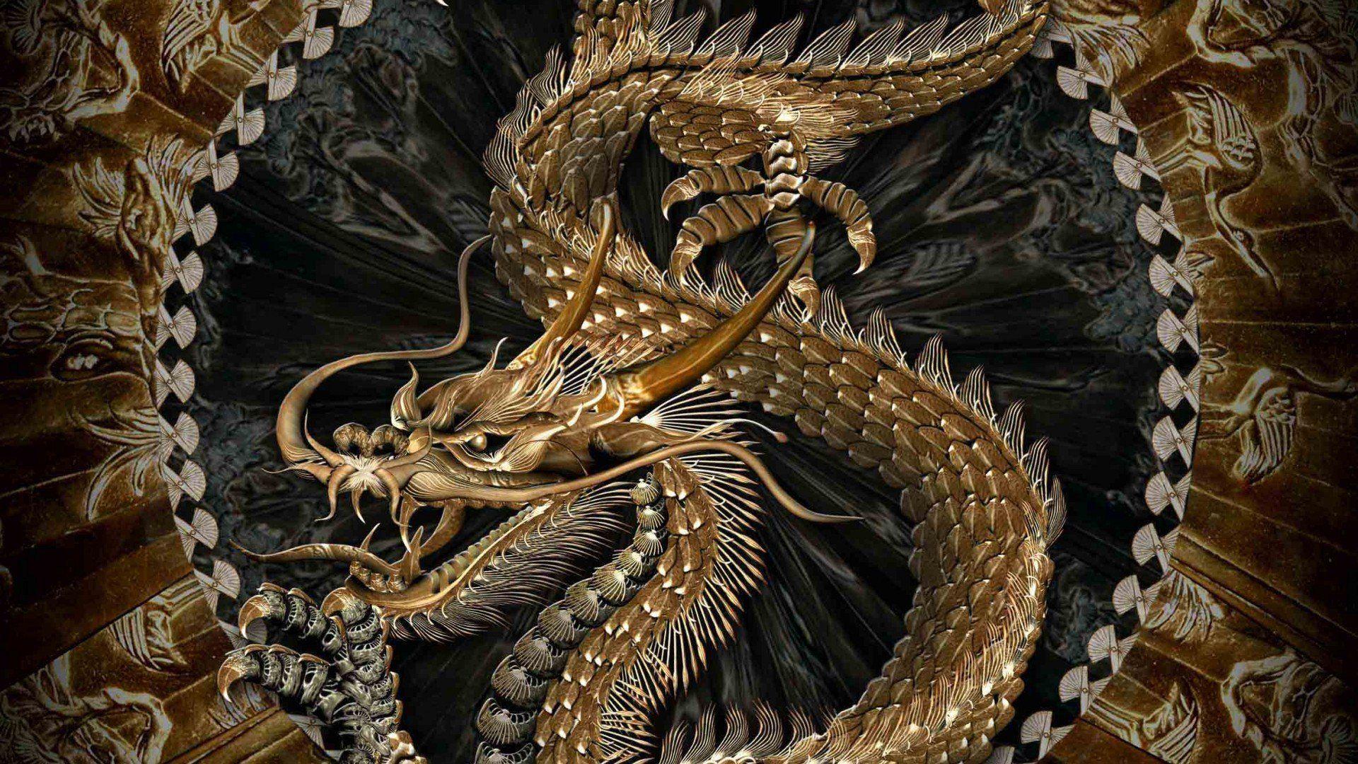 asian dragon 3d model wallpaper