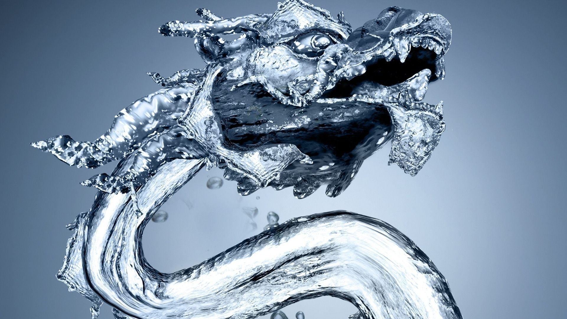 chinese dragon water 3d model