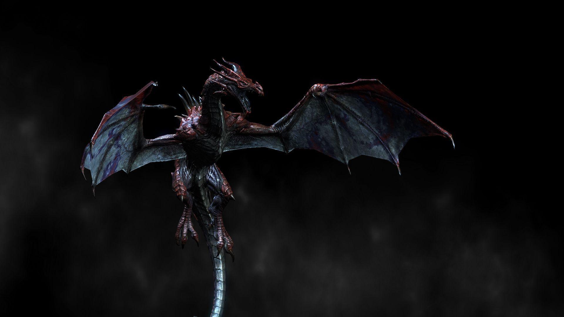 dark 3d dragon wallpaper