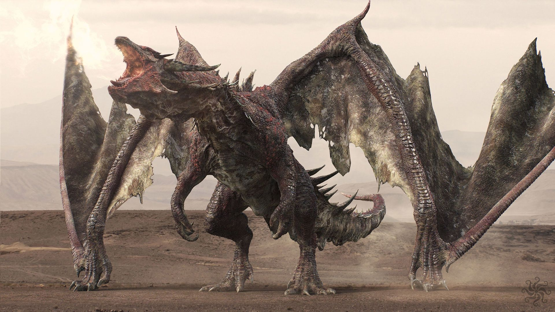3d rendered dragon from Game of Thrones