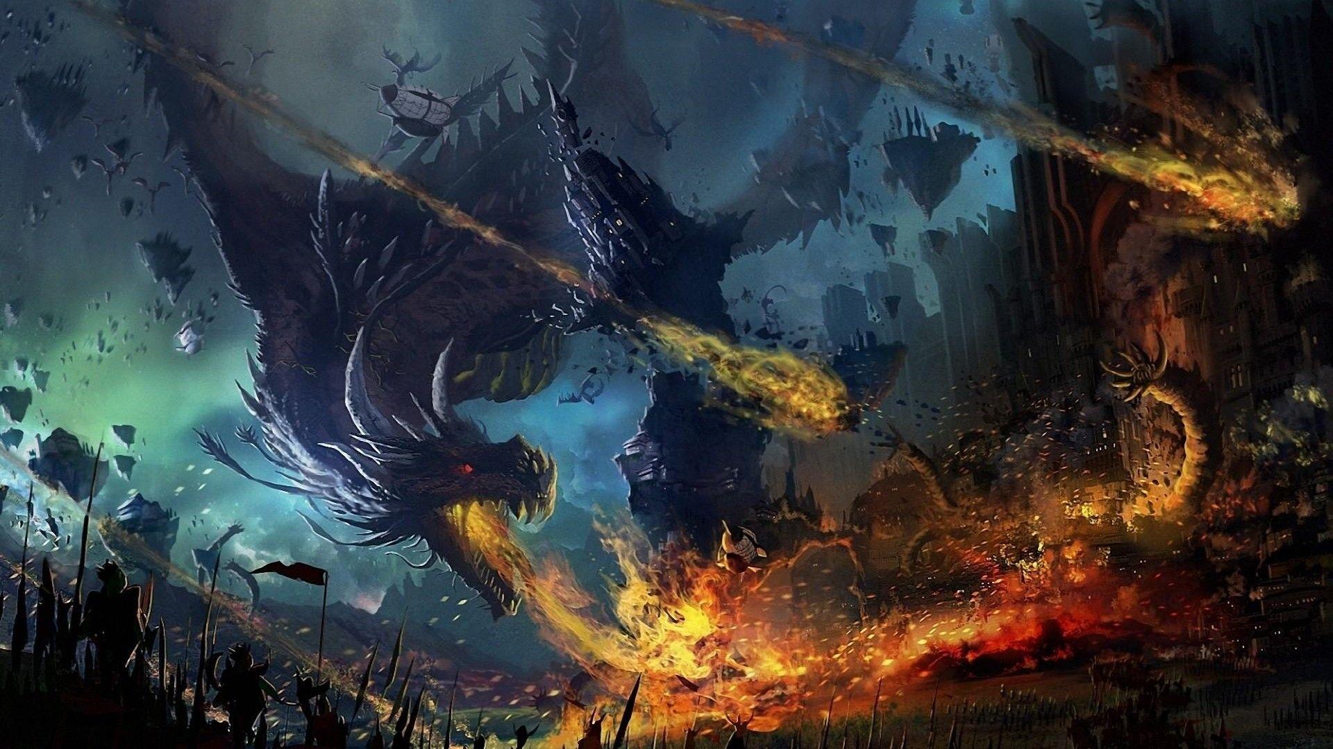 beautiful dragon wallpaper fire