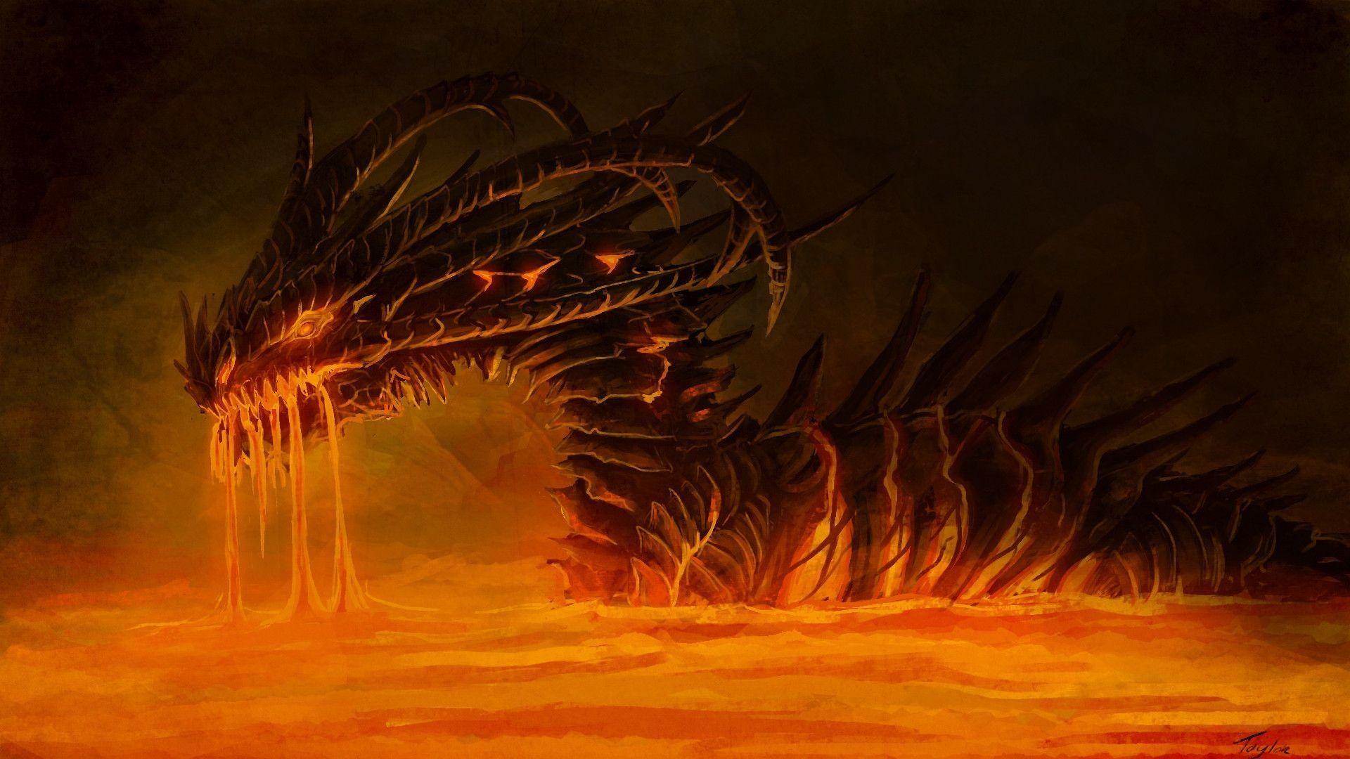 scary dragon wallpaper