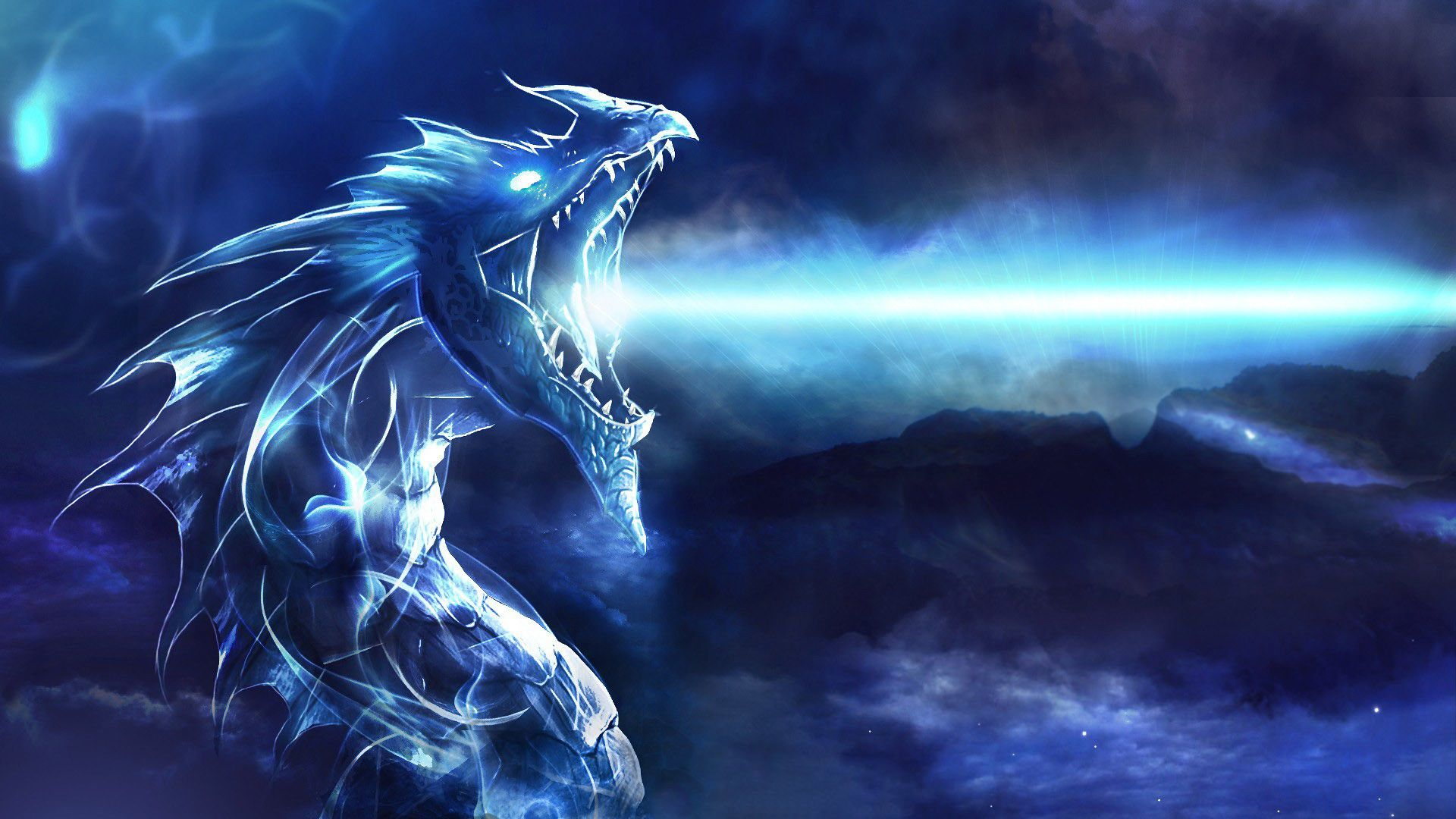 cool blue dragon picture