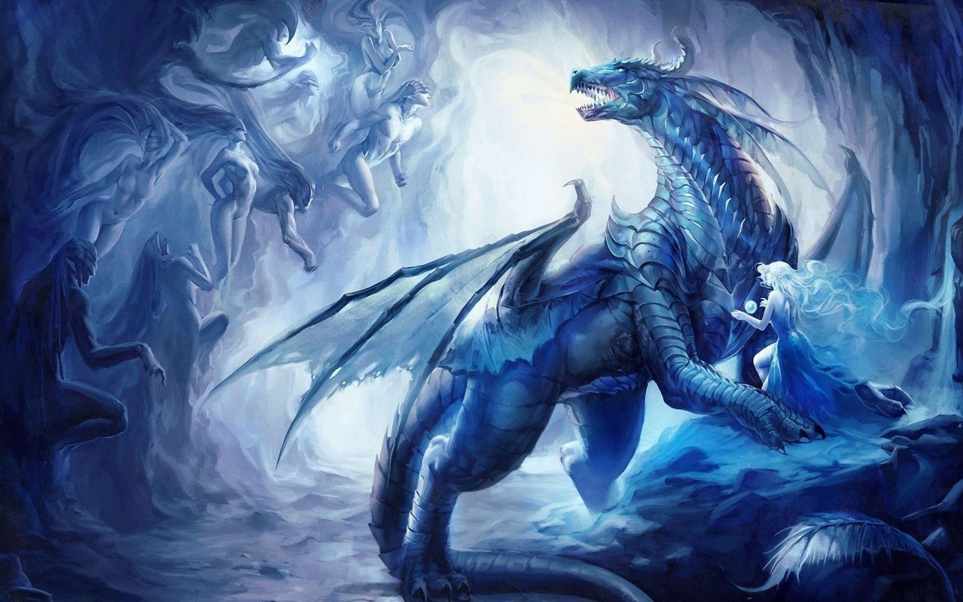 dragon blue wallpaper