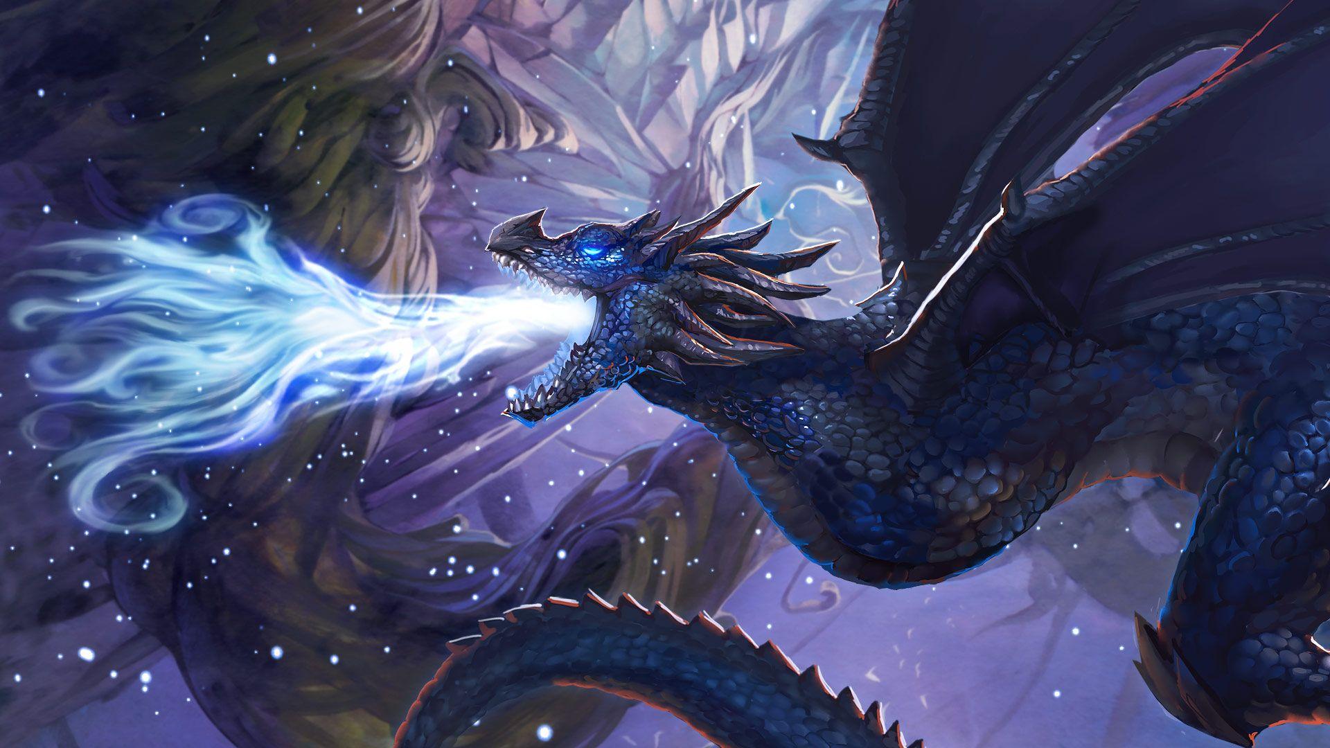 cool blue dragon desktop background