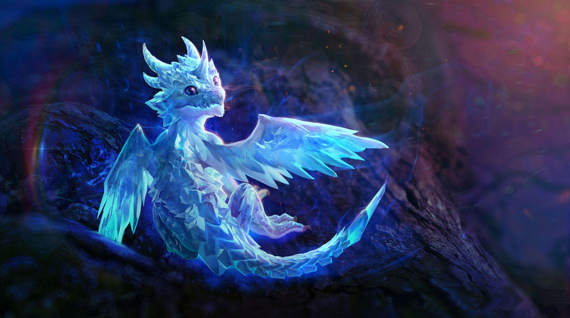 cute blue dragon wallpaper