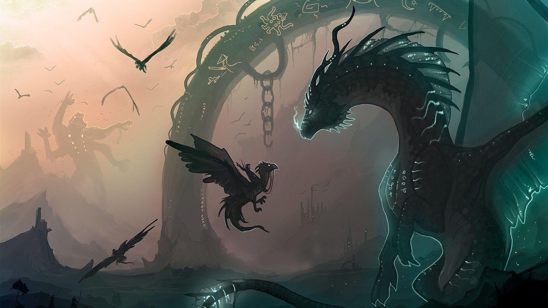 black and white dragon picture