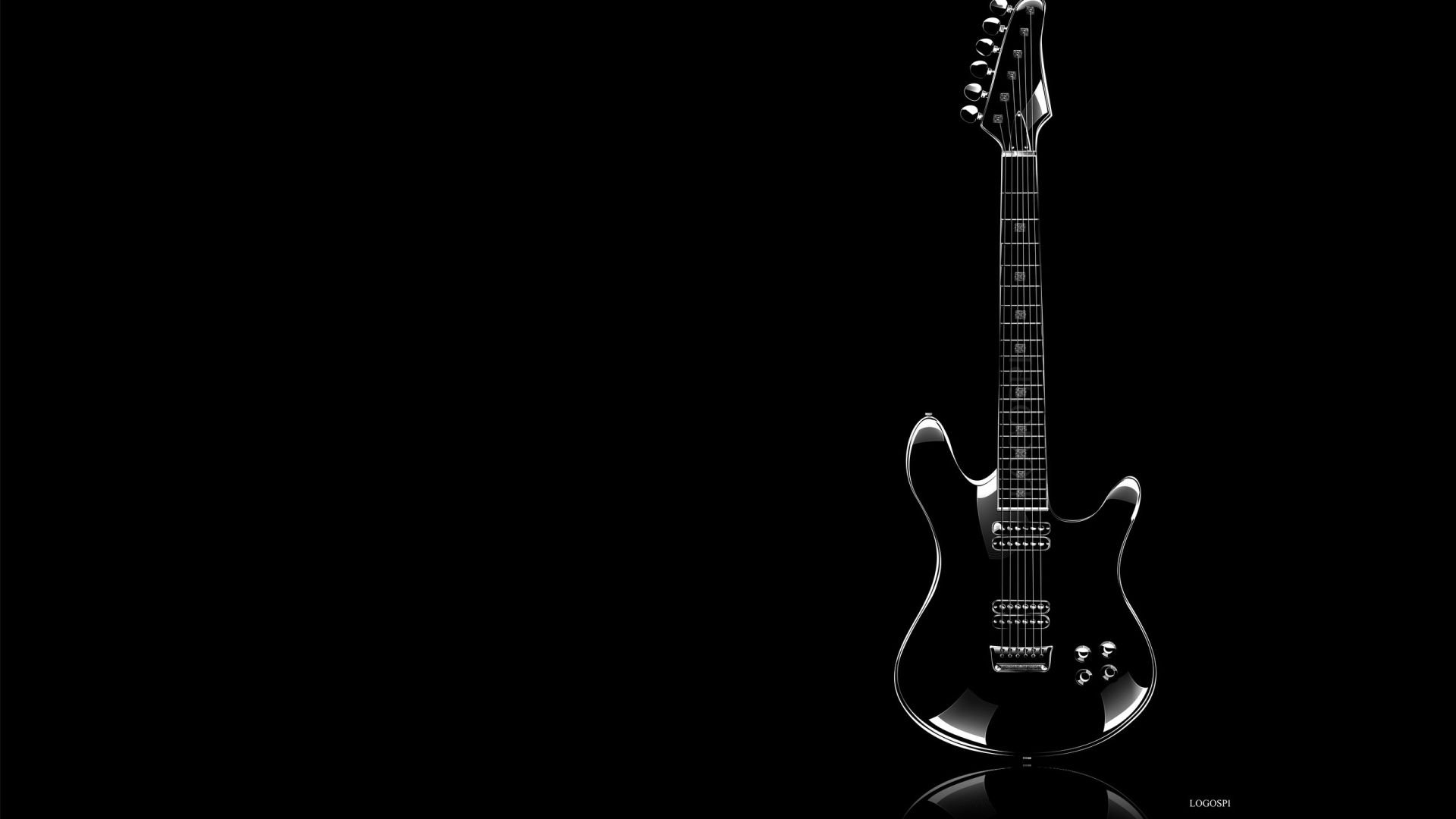 Electric Guitar Black, Cool HD Wallpaper