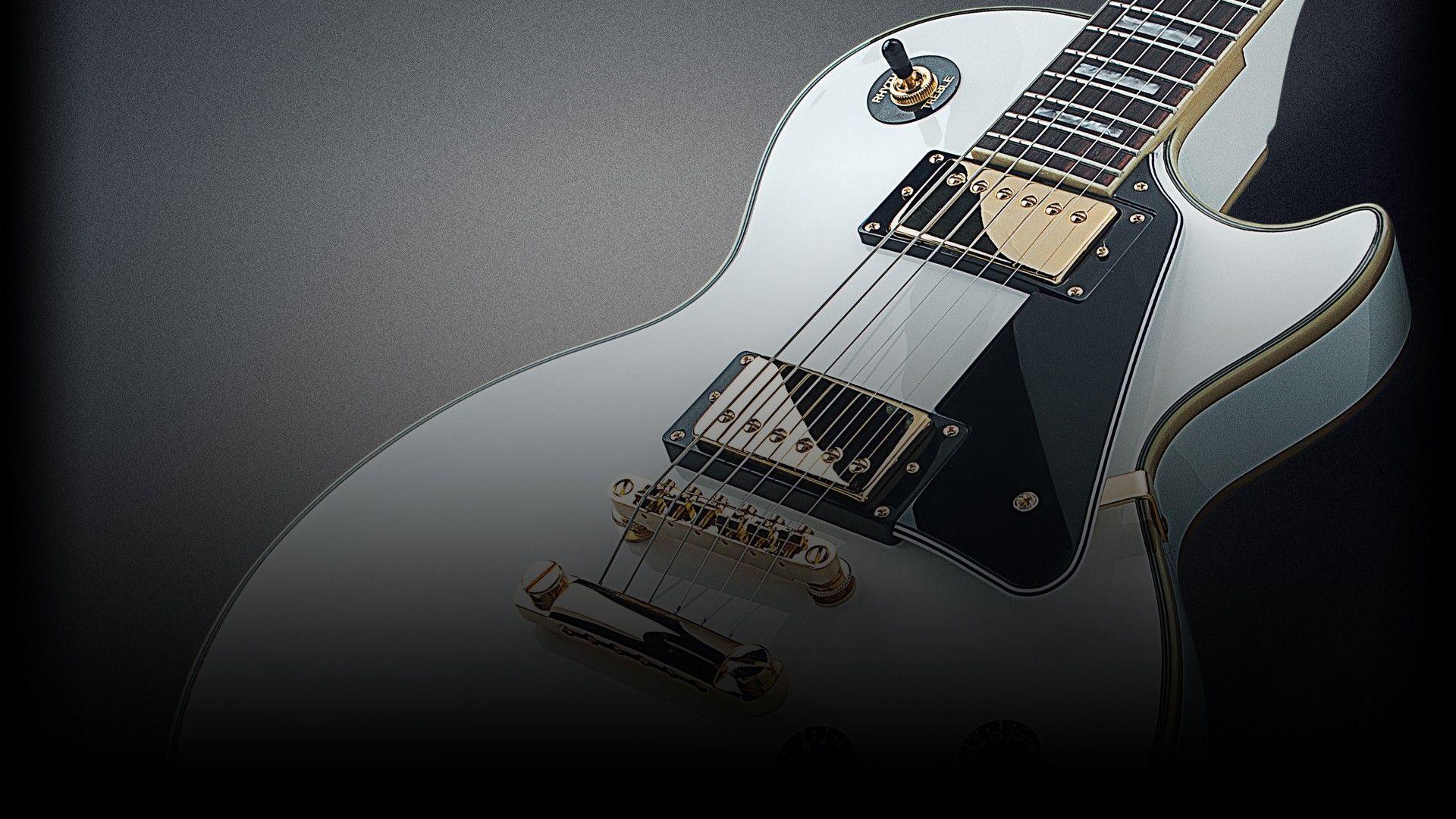 Electric Guitar white, Good Wallpaper