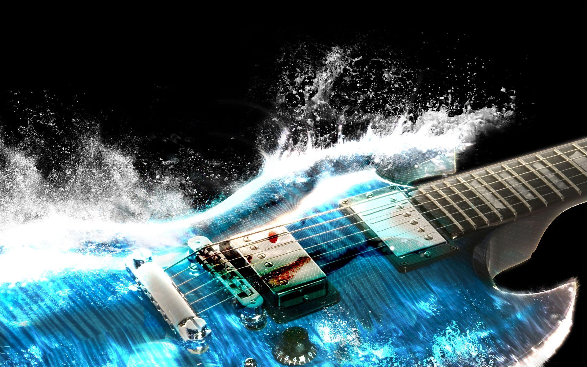 Electric Guitar blue, Good Wallpaper