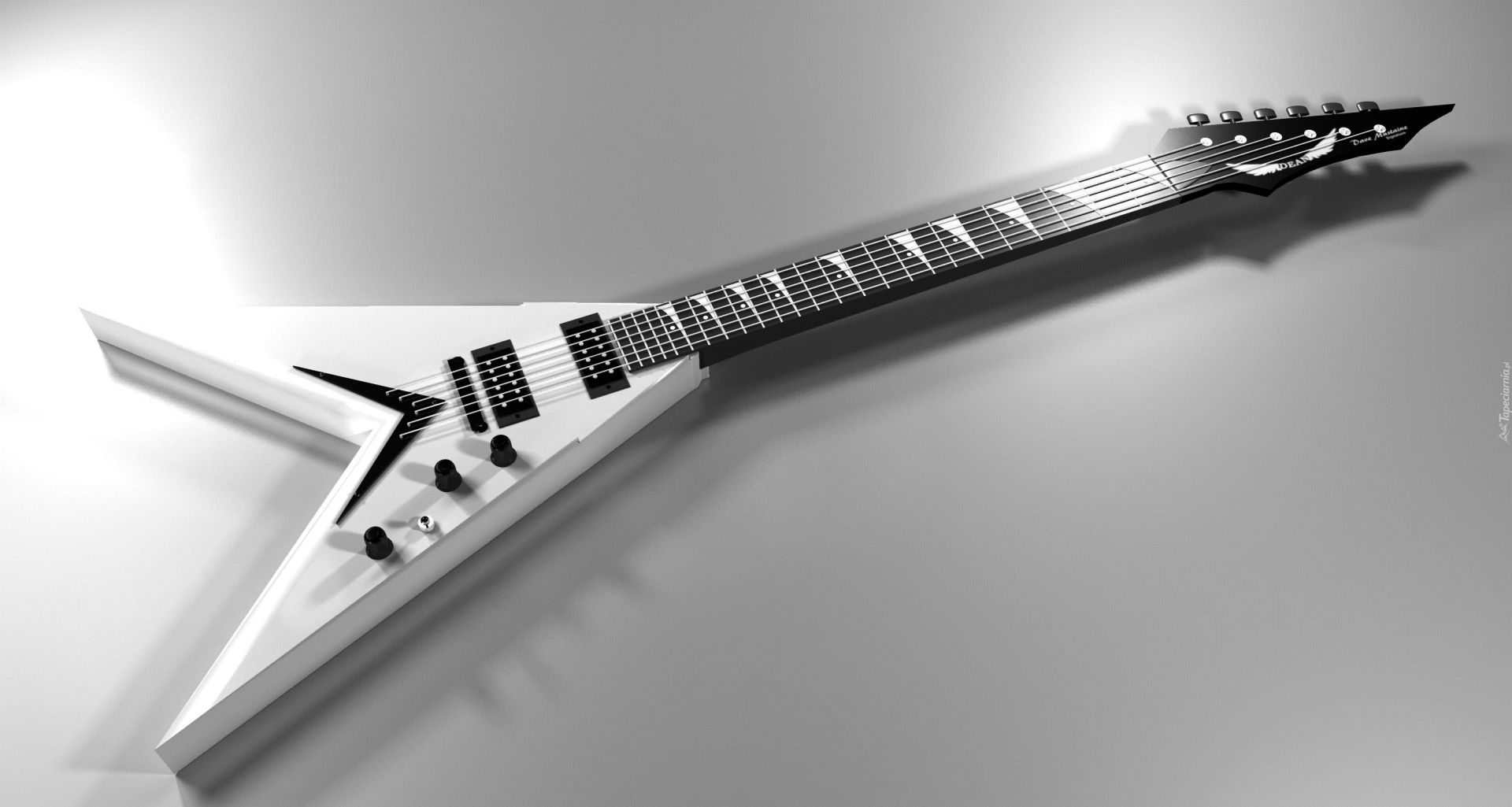 Electric Guitar white, Picture