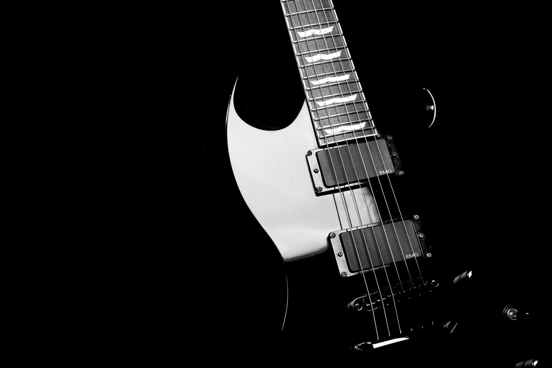 Electric Guitar black, PC Wallpaper