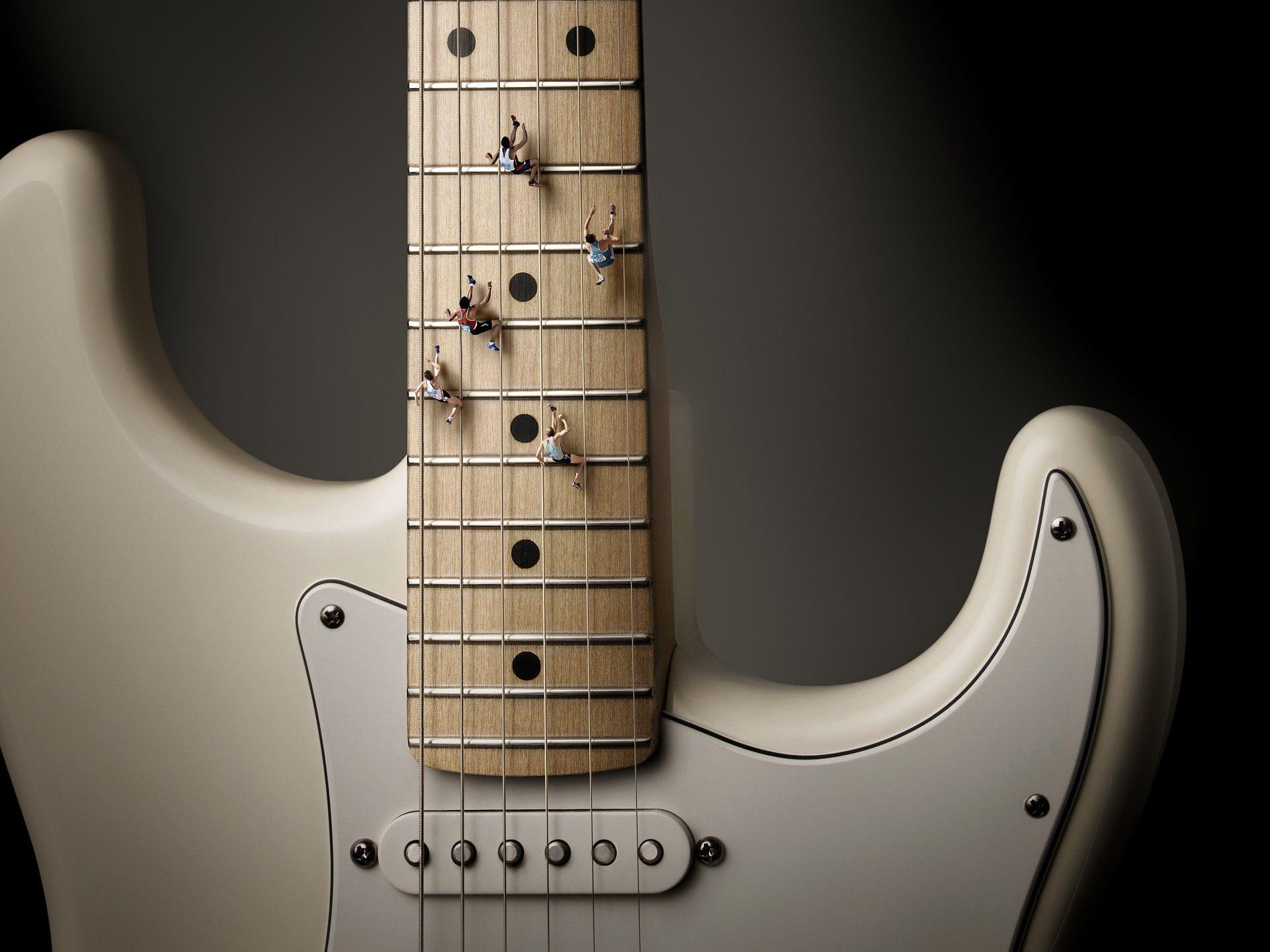 Electric Guitar white, Cool Wallpaper