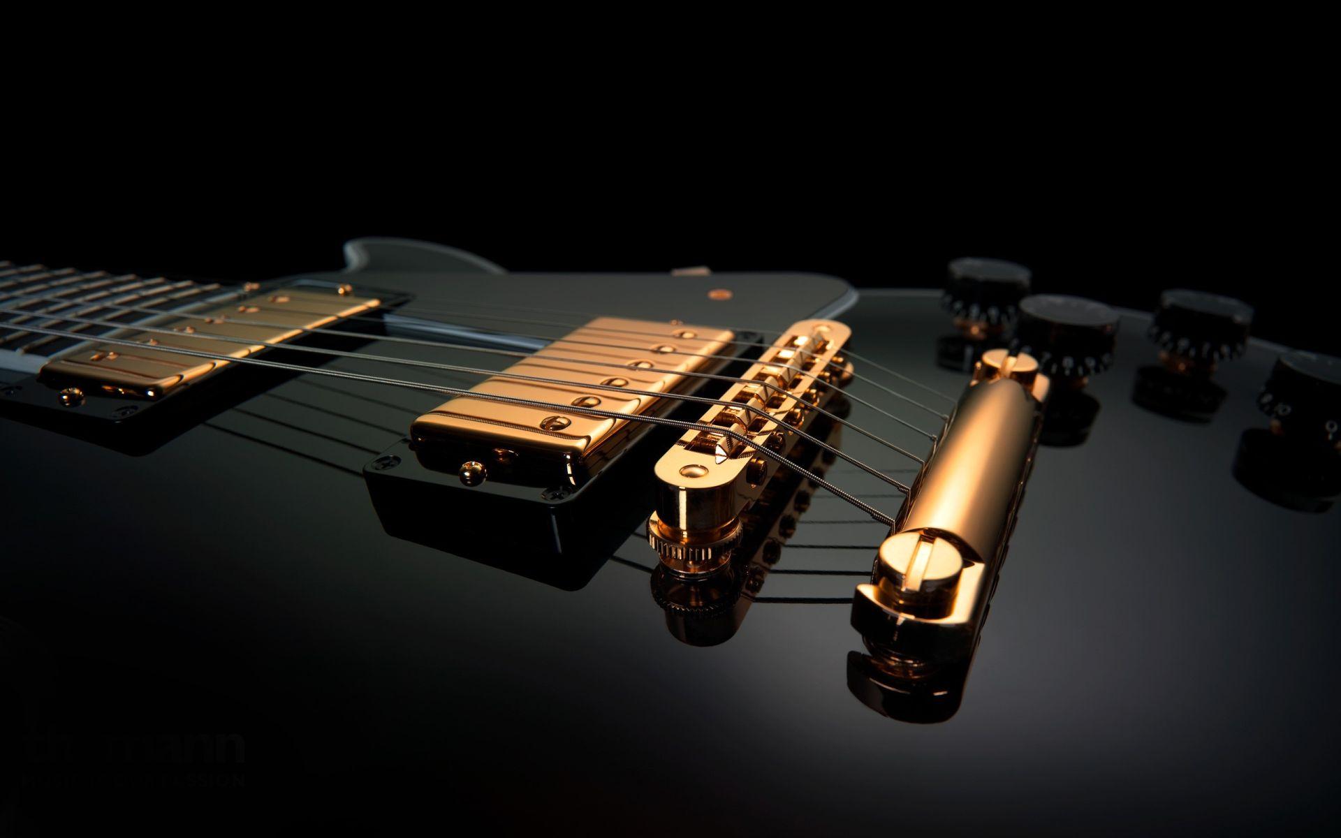 Electric Guitar black, Cool Wallpaper