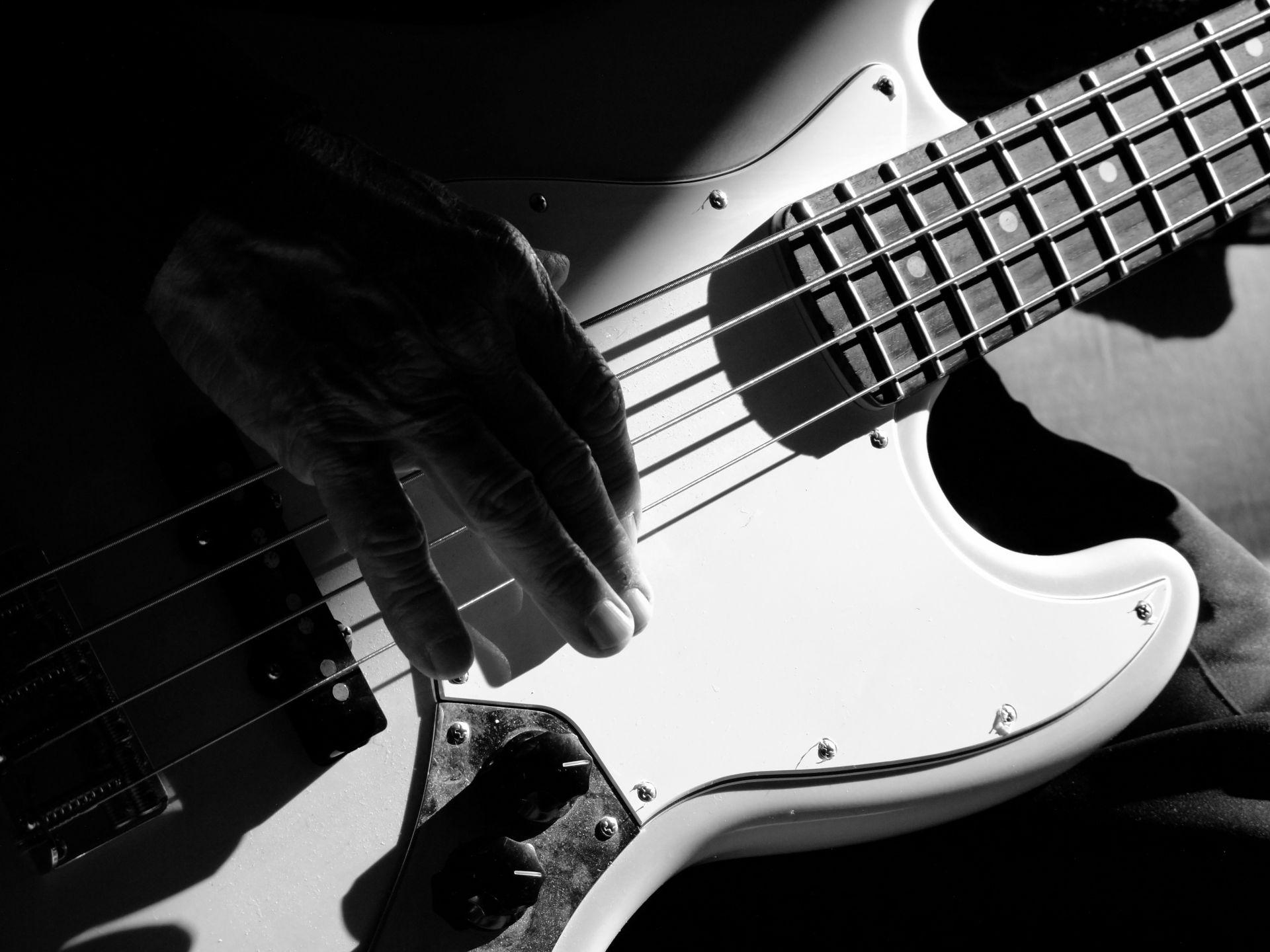 Electric Guitar white, Wallpaper Theme