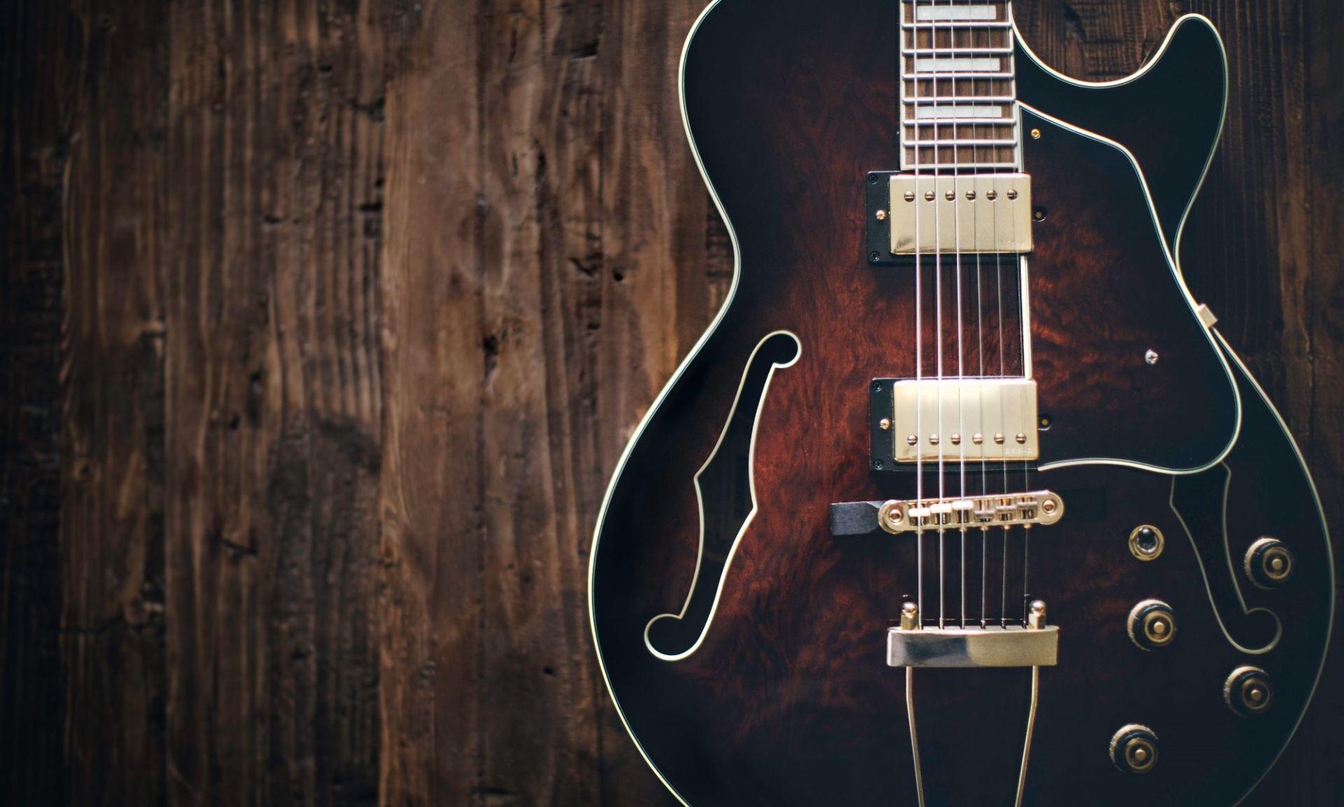 Electric Guitar wood, Wallpaper Image