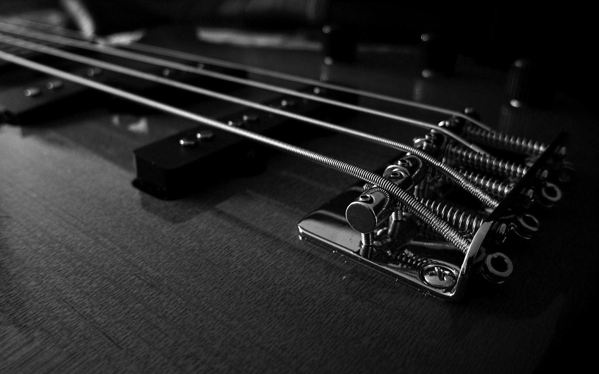 Electric Guitar black strings, Wallpaper Picture