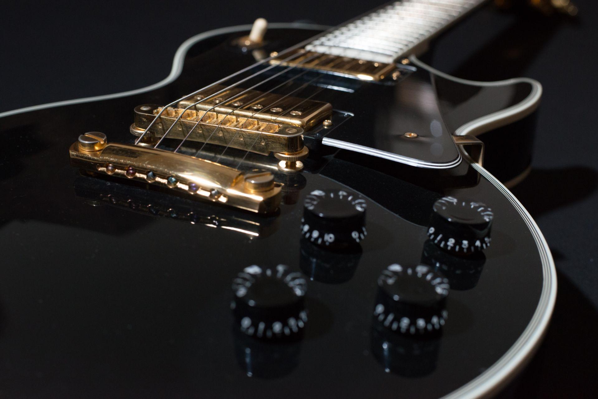 Electric Guitar black, Wallpaper