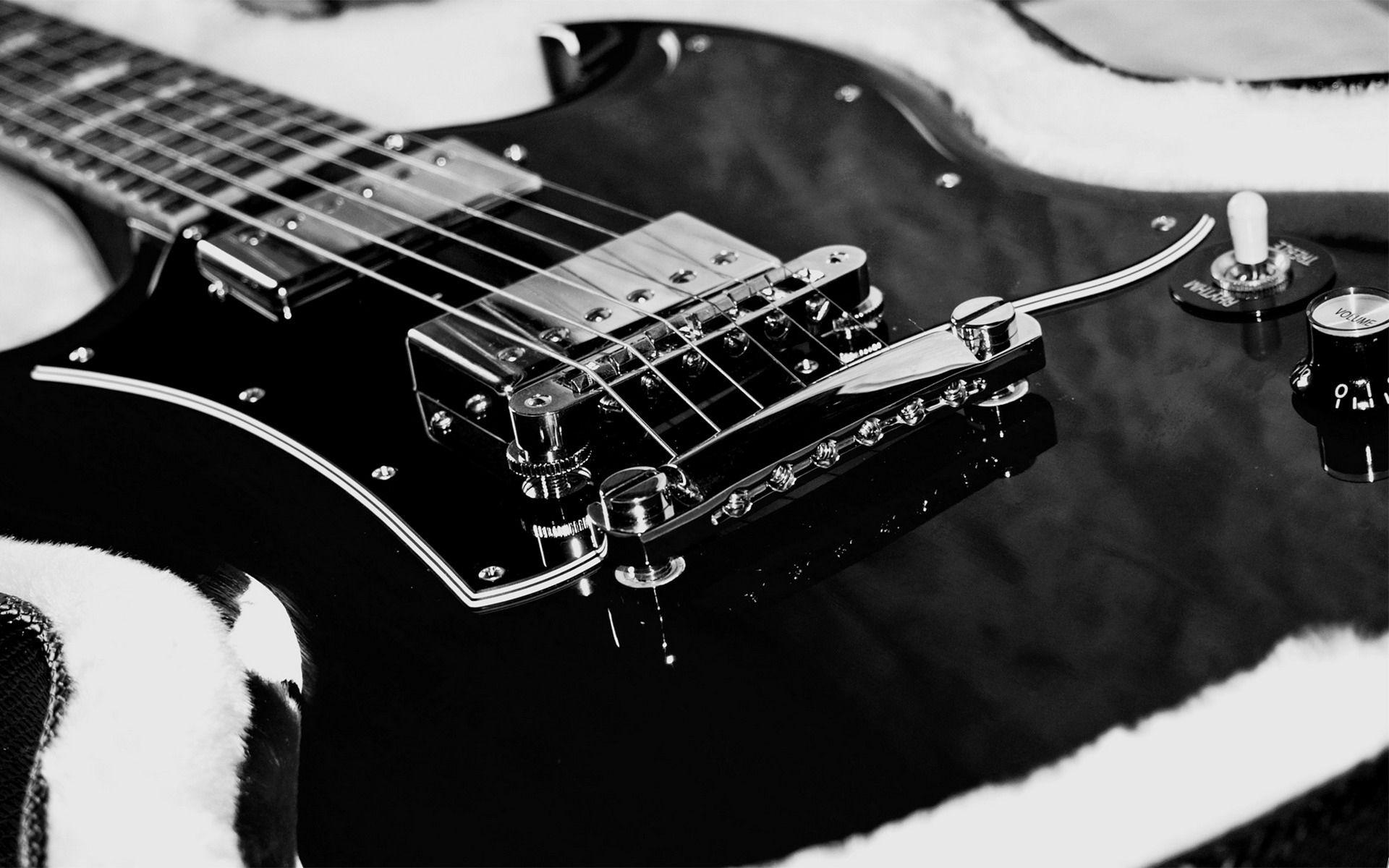 Electric Guitar black, Nice Wallpaper