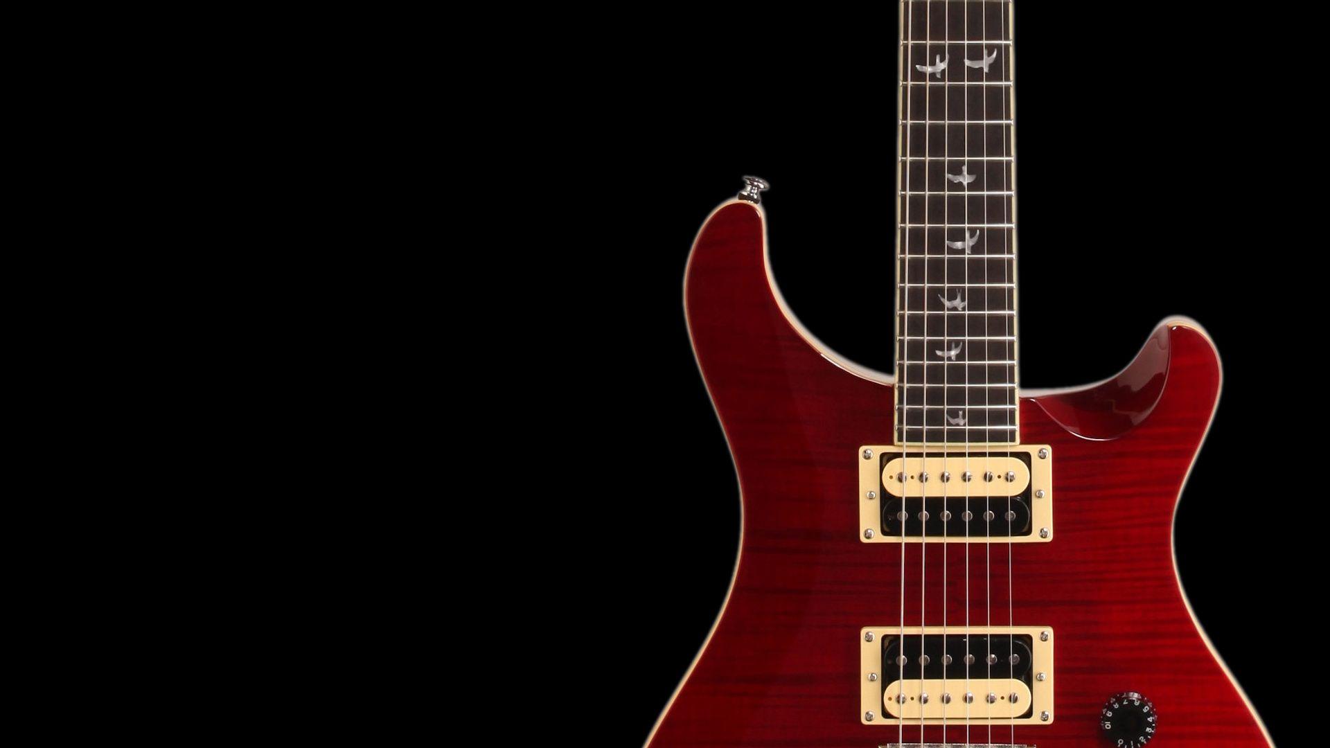 Electric Guitar red, Cool Wallpaper