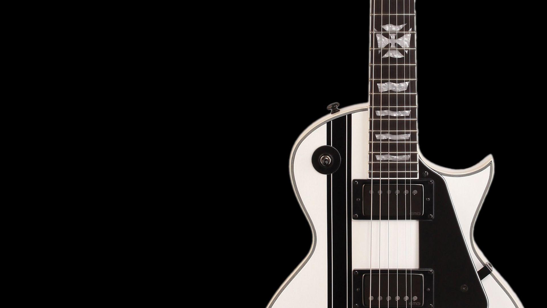 Electric Guitar white black, Image