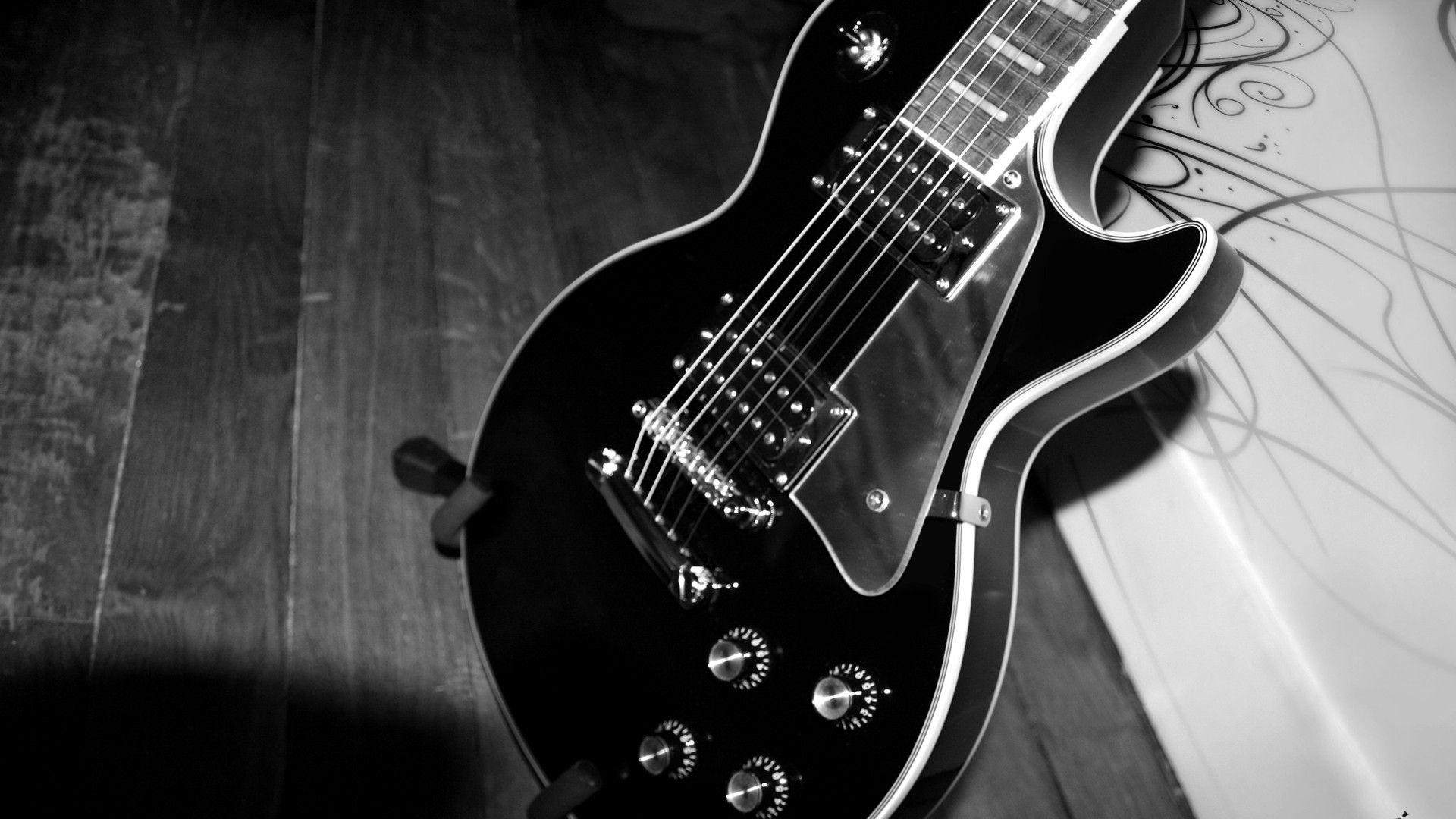 Electric Guitar black, New Wallpaper