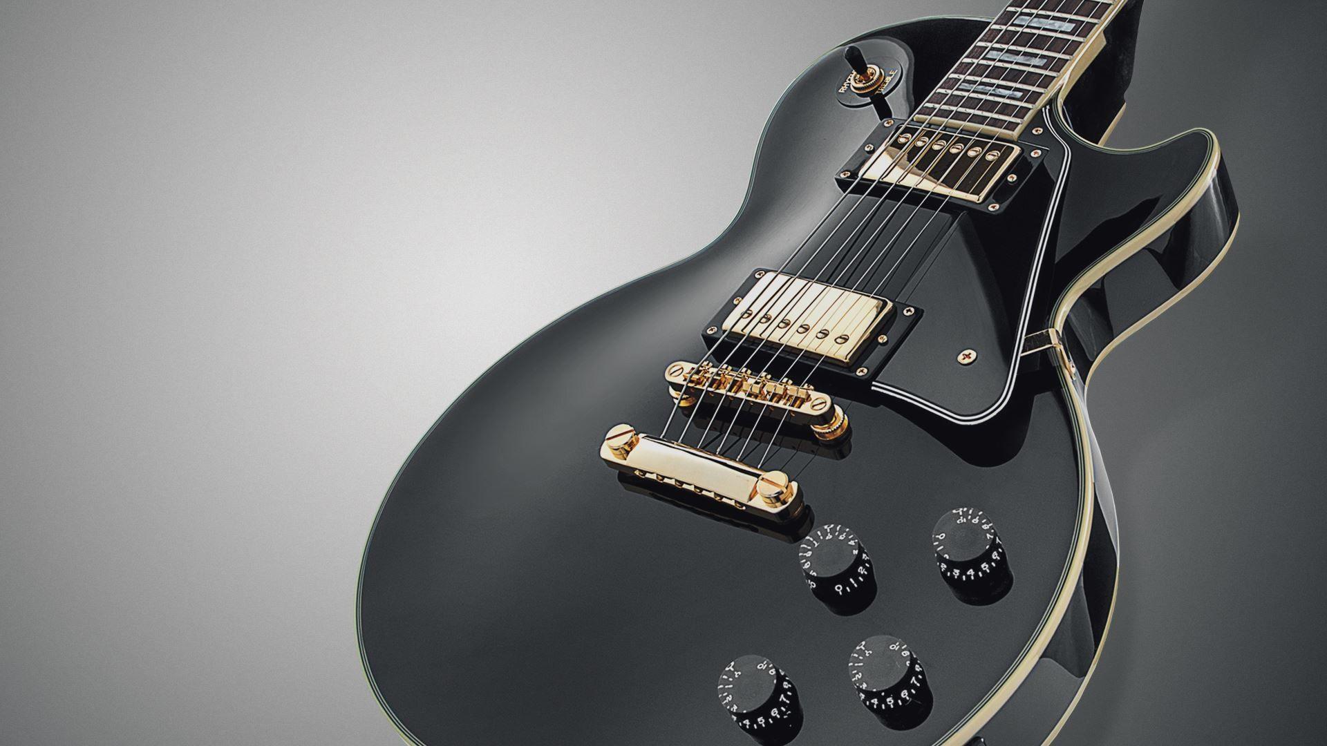 Electric Guitar black, Download Wallpaper