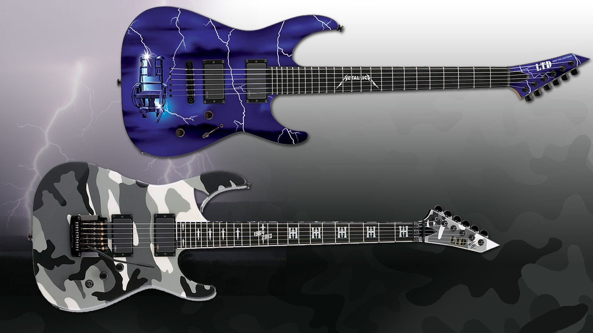Two Electric Guitars, Background Wallpaper HD