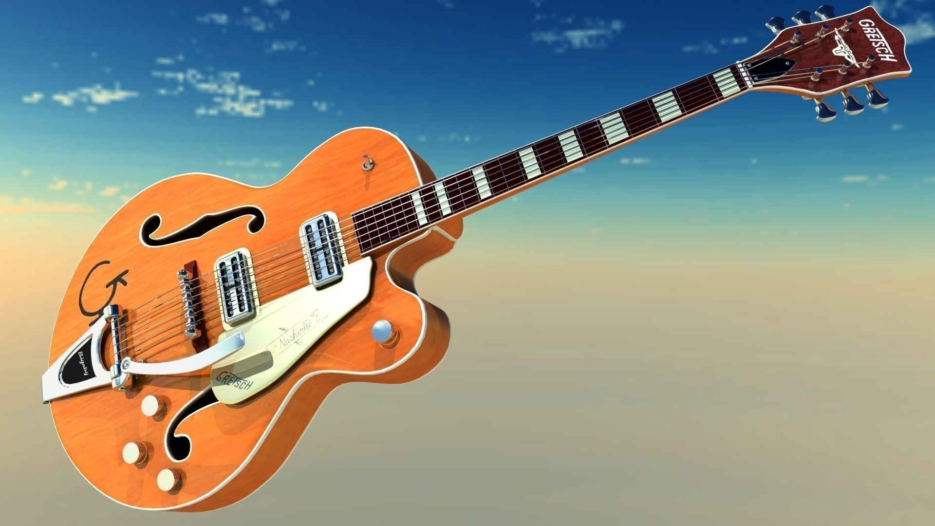 Electric Guitar, Free Desktop Wallpaper